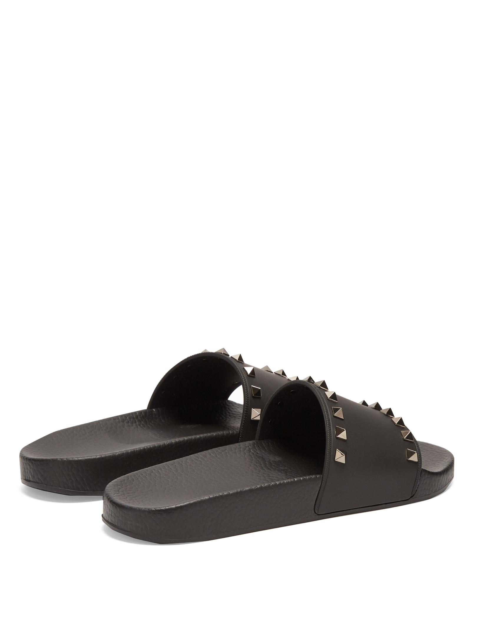 Valentino Rockstud Rubber Slides d7hQL9Bf