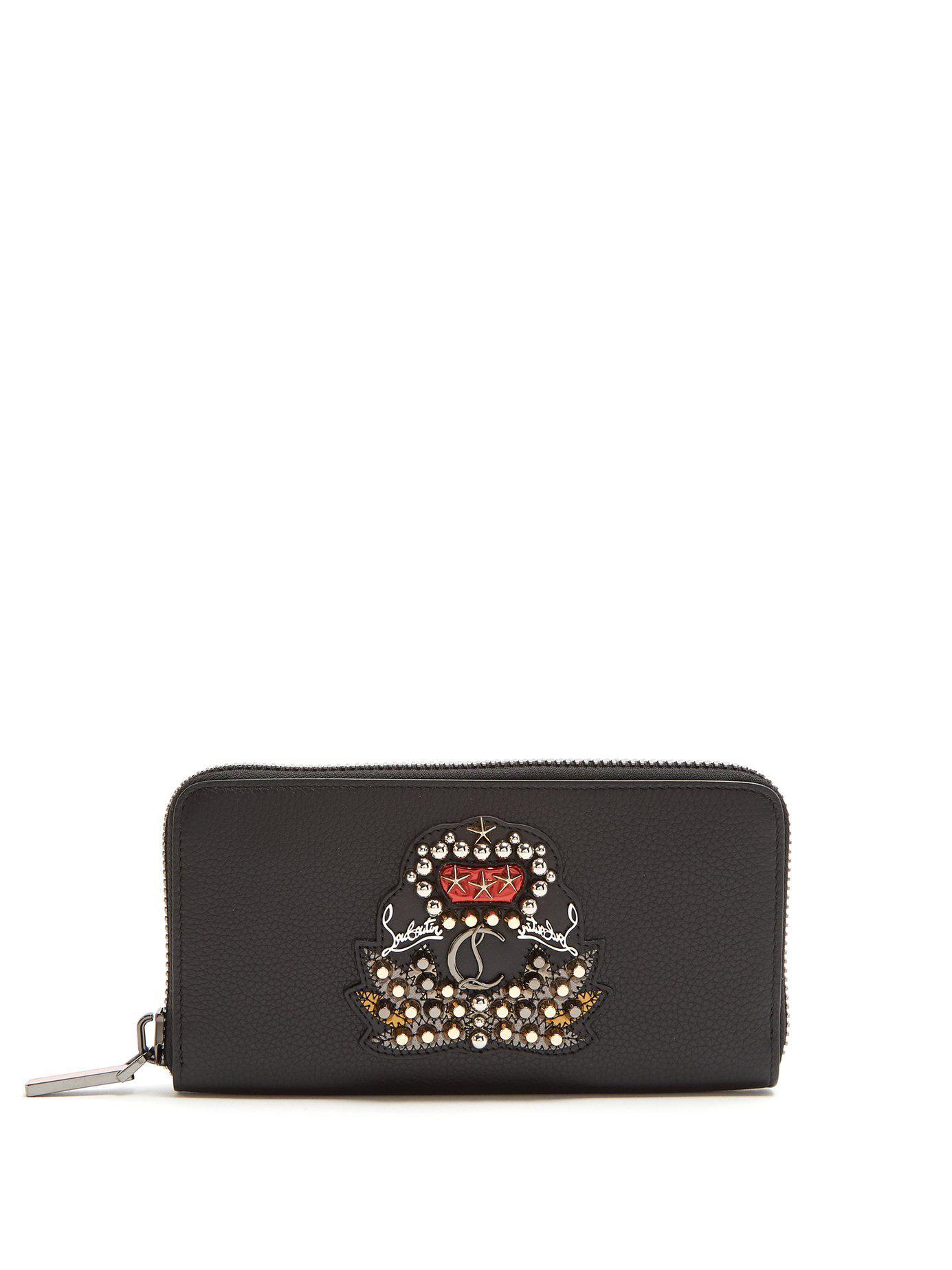 c739768b239 Lyst - Christian Louboutin Panettone Zip Around Leather Wallet in ...