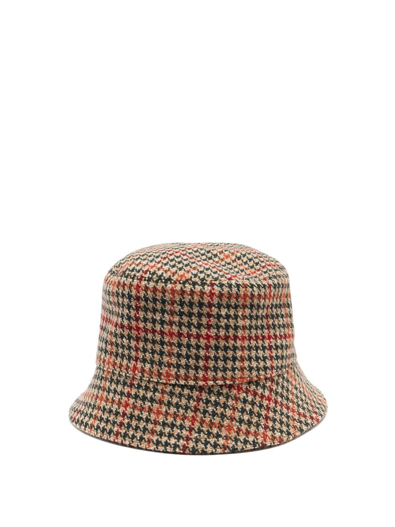 04a220fe705 Prada. Women s Houndstooth Wool Tweed Bucket Hat