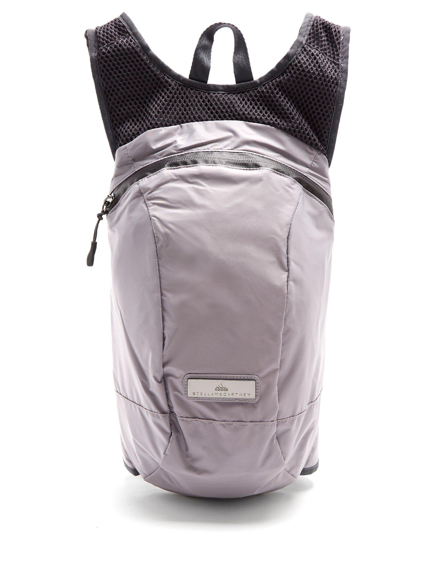 bf6a83bc7d Lyst - adidas By Stella McCartney Adizero Running Backpack in Gray
