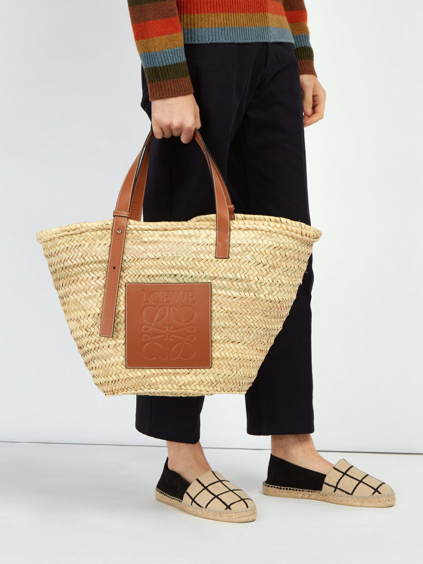 Loewe - Multicolor Leather Trimmed Woven Basket Bag for Men - Lyst. View  fullscreen f4229ccacaaef