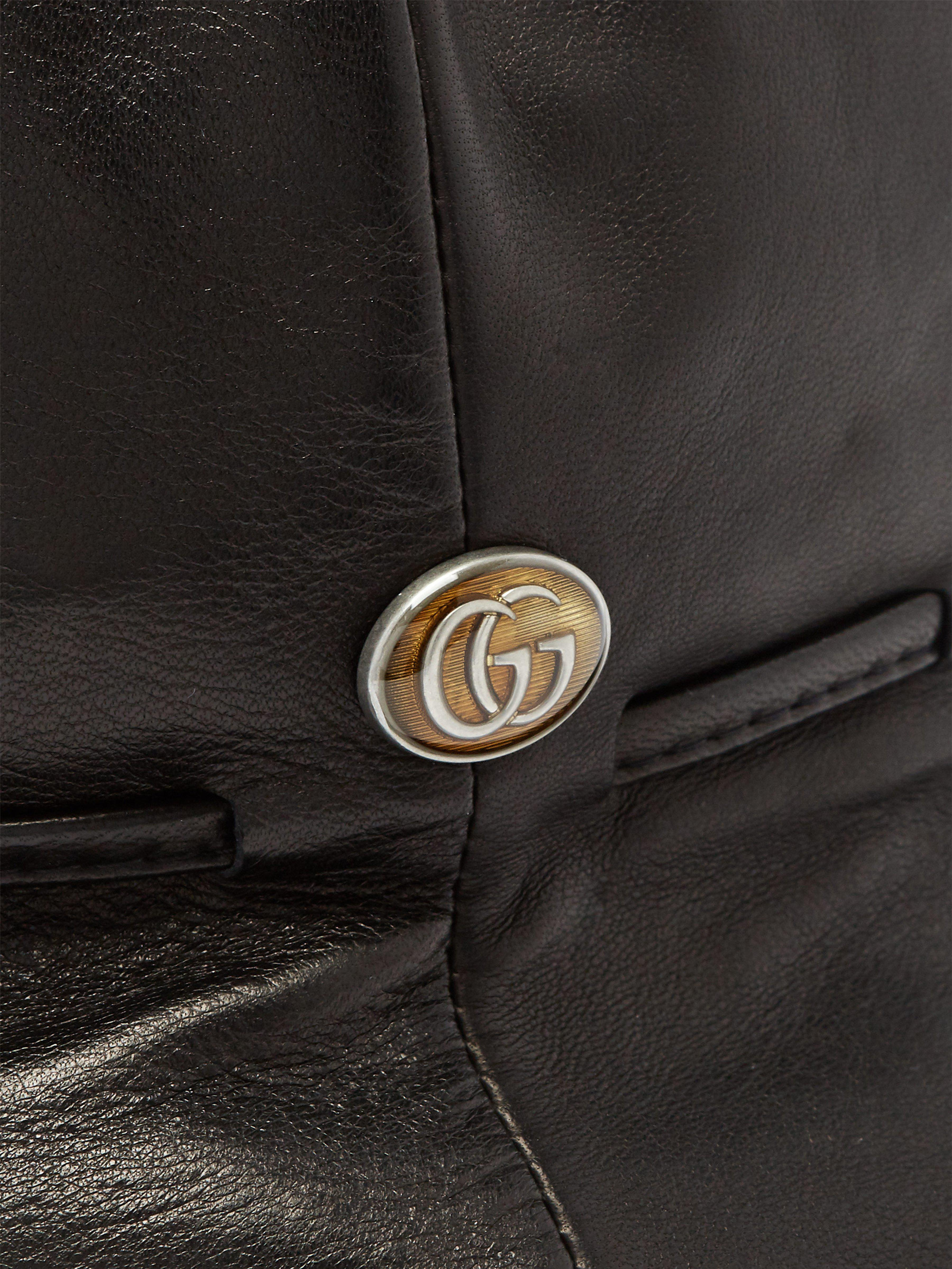 Lyst - Bob en cuir Gucci pour homme en coloris Noir 89d7b10ee7a