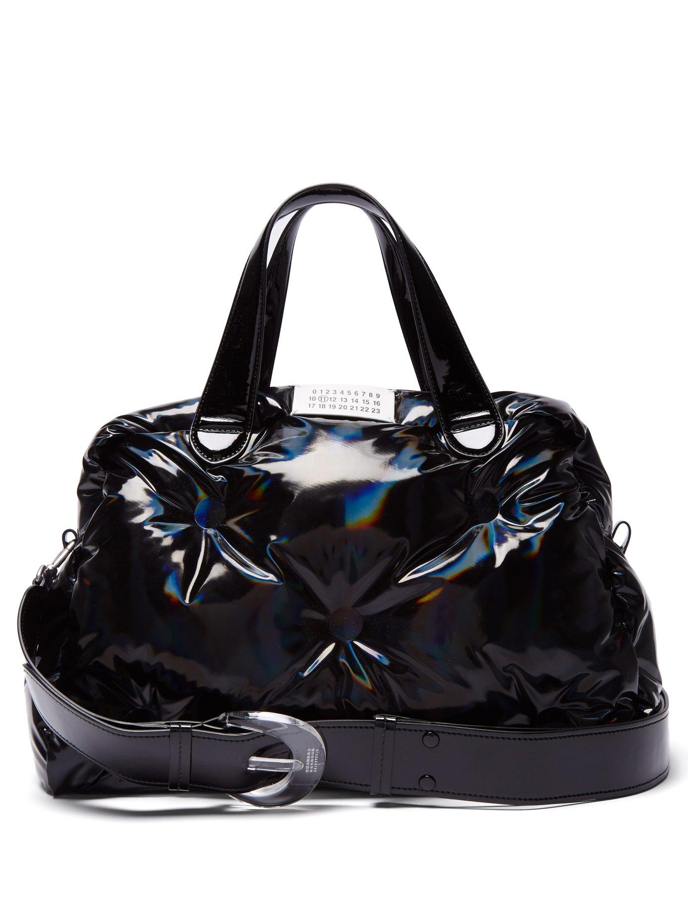 Lyst - Maison Margiela Glam Slam Holographic Pvc Bowling Bag in Black ef6a5db9b31
