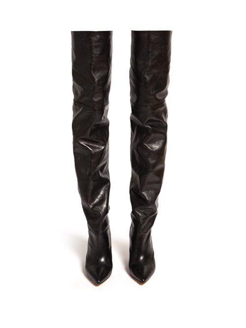 0b282ff15d4 Lyst - Isabel Marant Lostynn Leather Over-the-knee Boots in Black