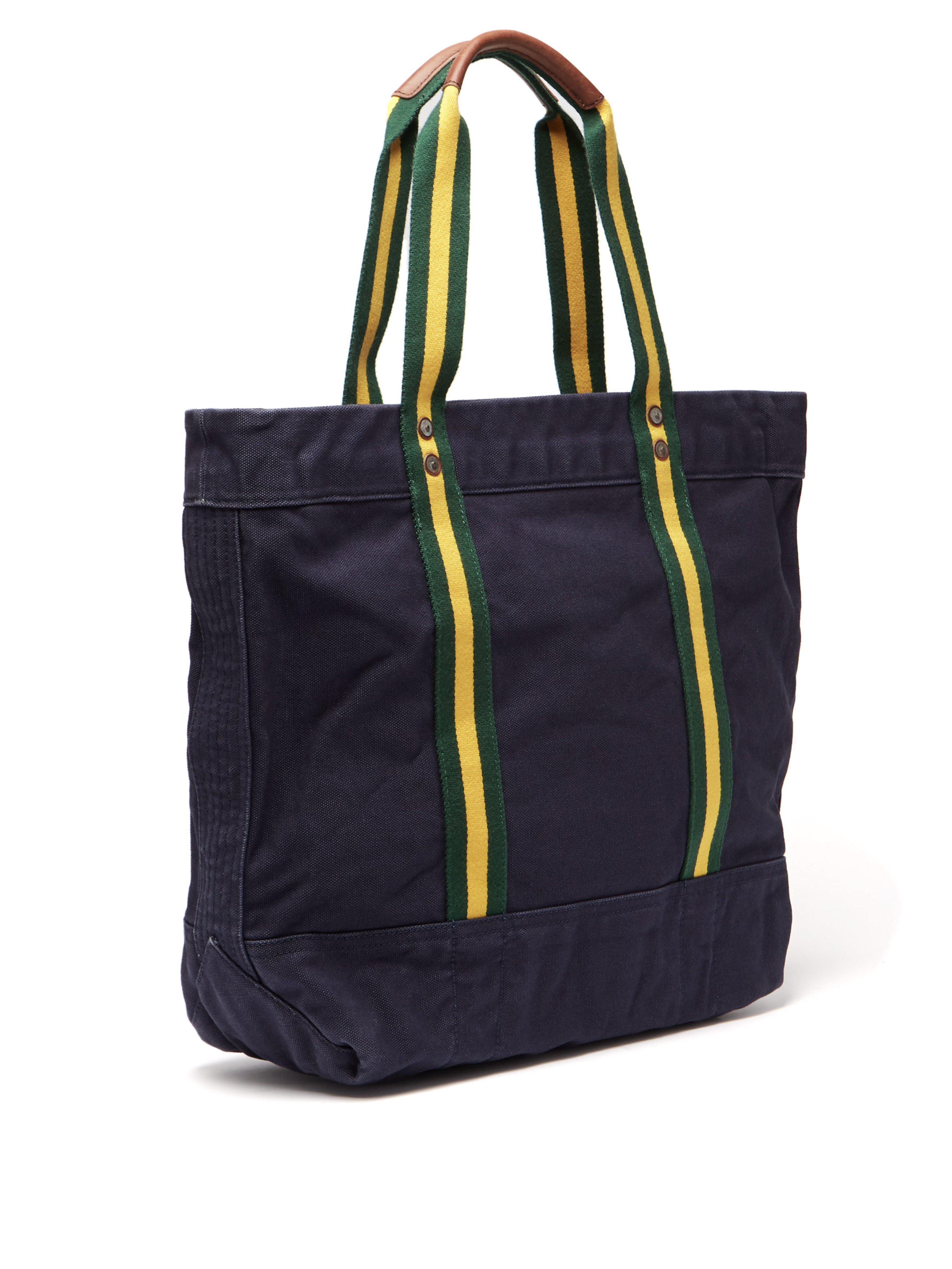 a3db21c0a0f Polo Ralph Lauren Crest Cotton-canvas Tote Bag in Blue for Men - Lyst