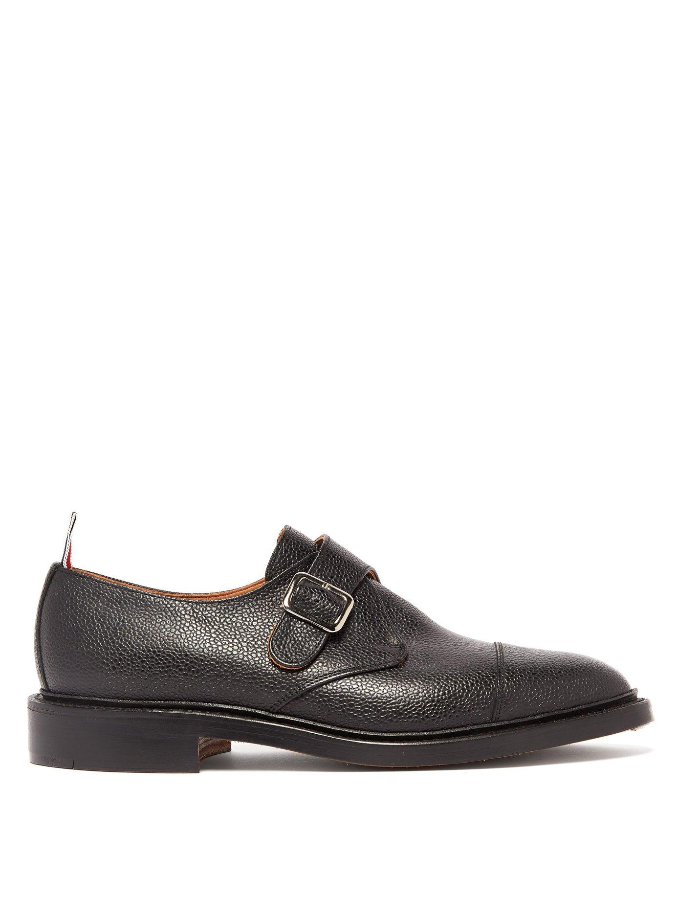 5c38f57a734 Lyst - Thom Browne Monk Strap Pebbled Leather Shoes for Men