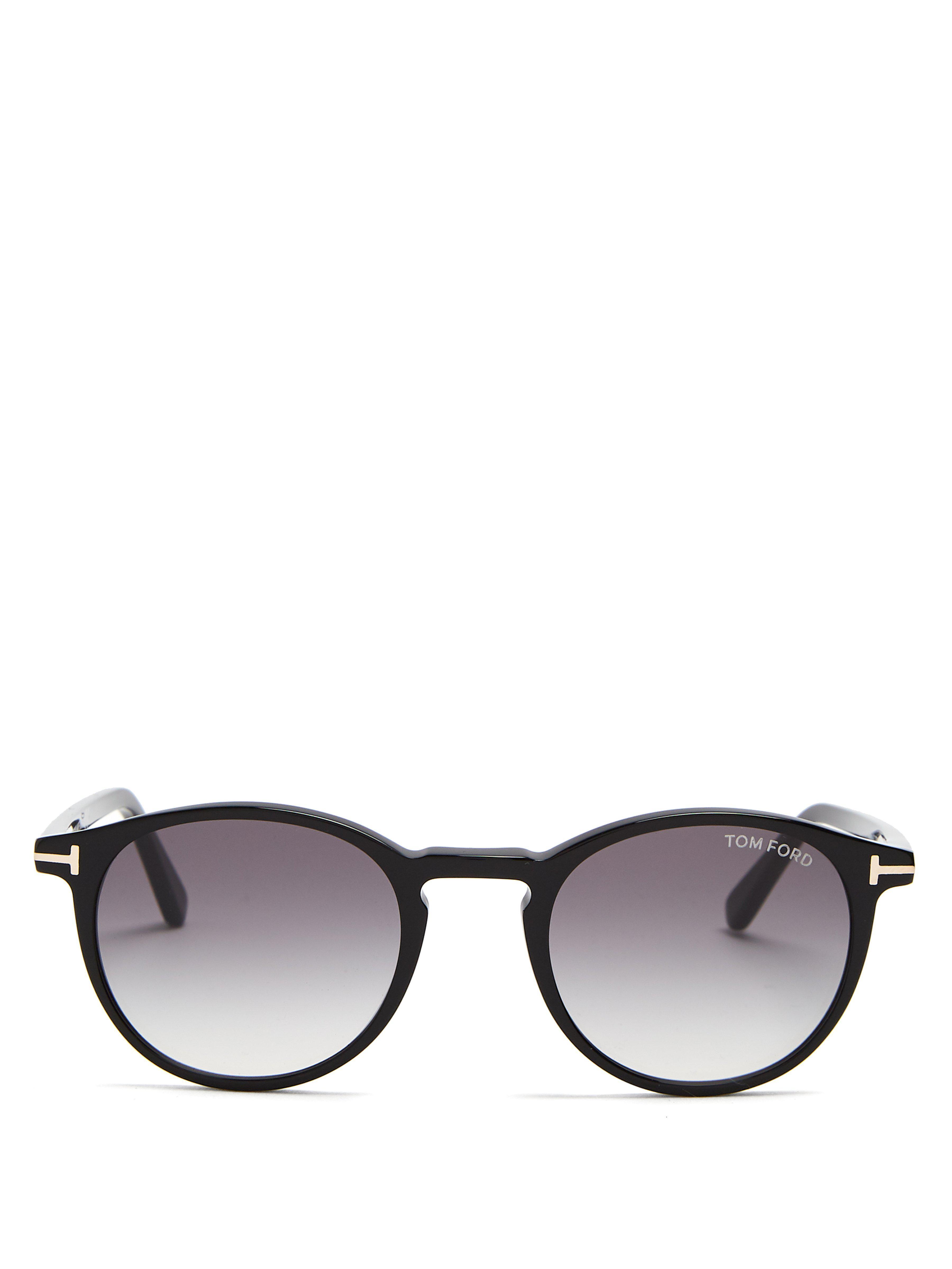 f3d5337447 Tom Ford - Black Eric Round Frame Sunglasses for Men - Lyst. View fullscreen