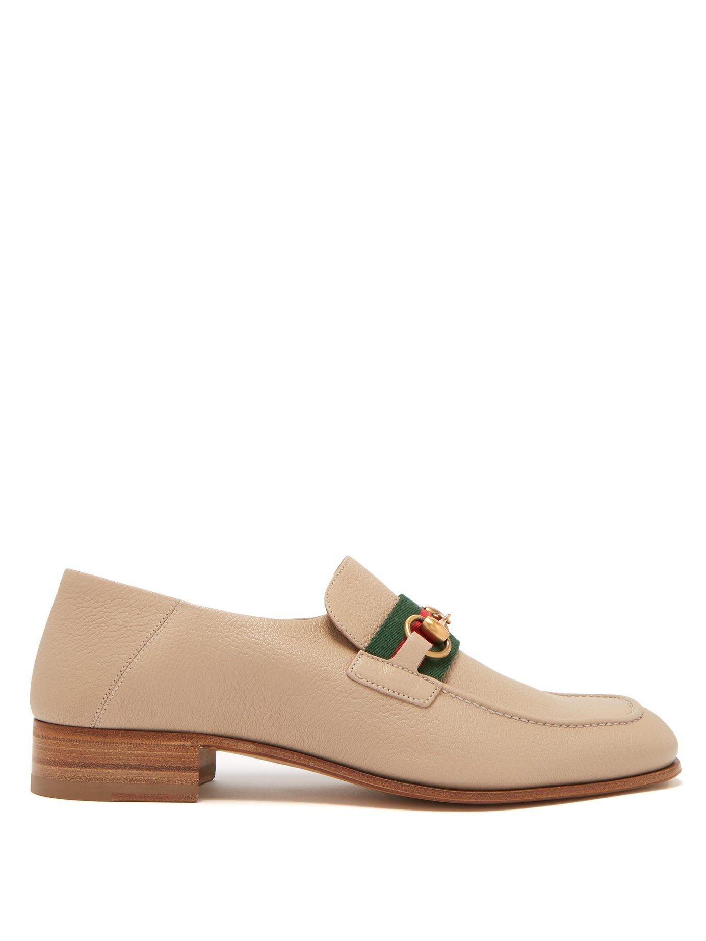 a634071ecef Lyst - Gucci Donnie Horsebit Leather Loafers in Natural for Men