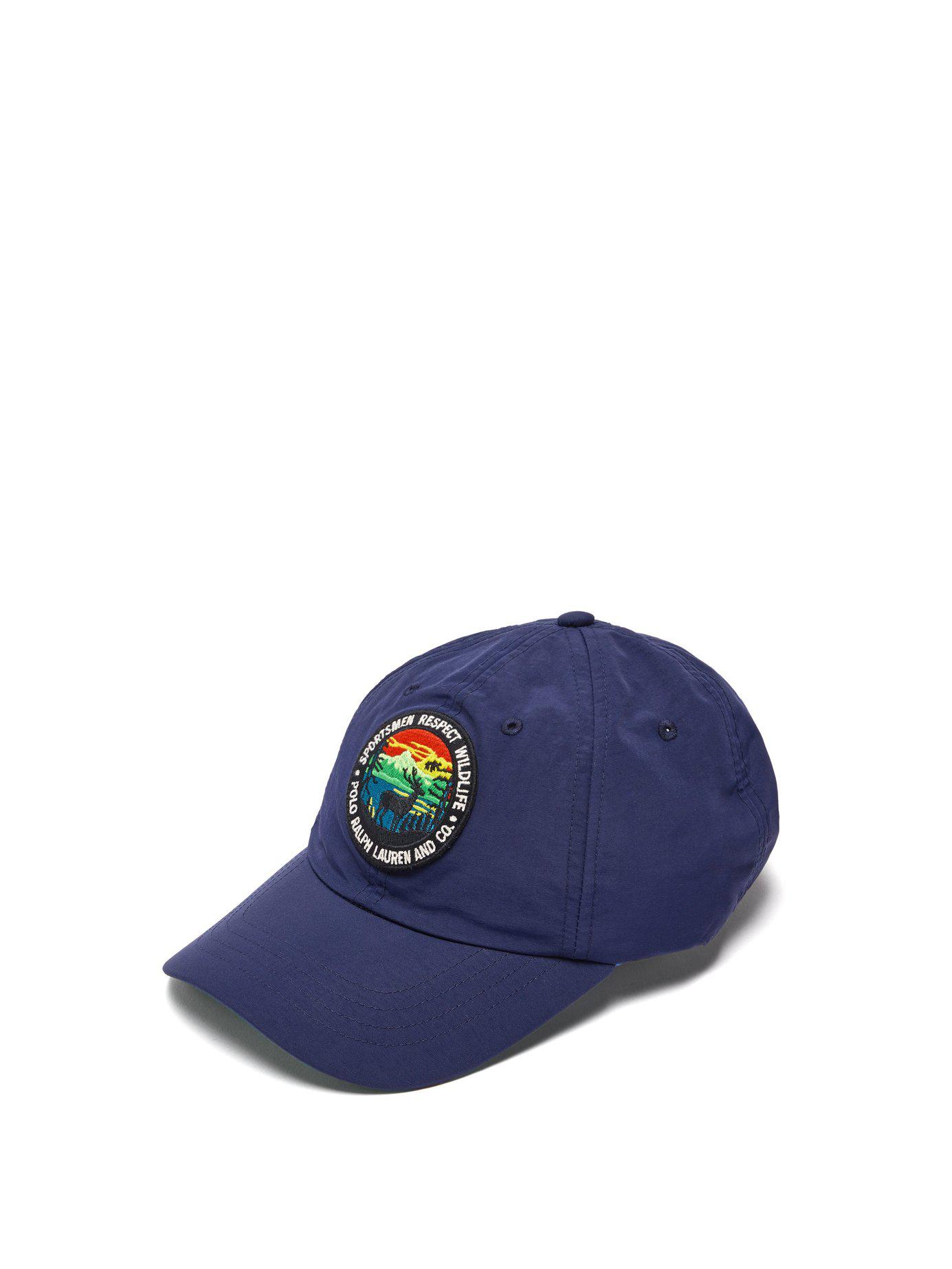 222e64505af38 Lyst - Ralph Lauren Purple Label Logo Patch Baseball Cap in Blue for Men