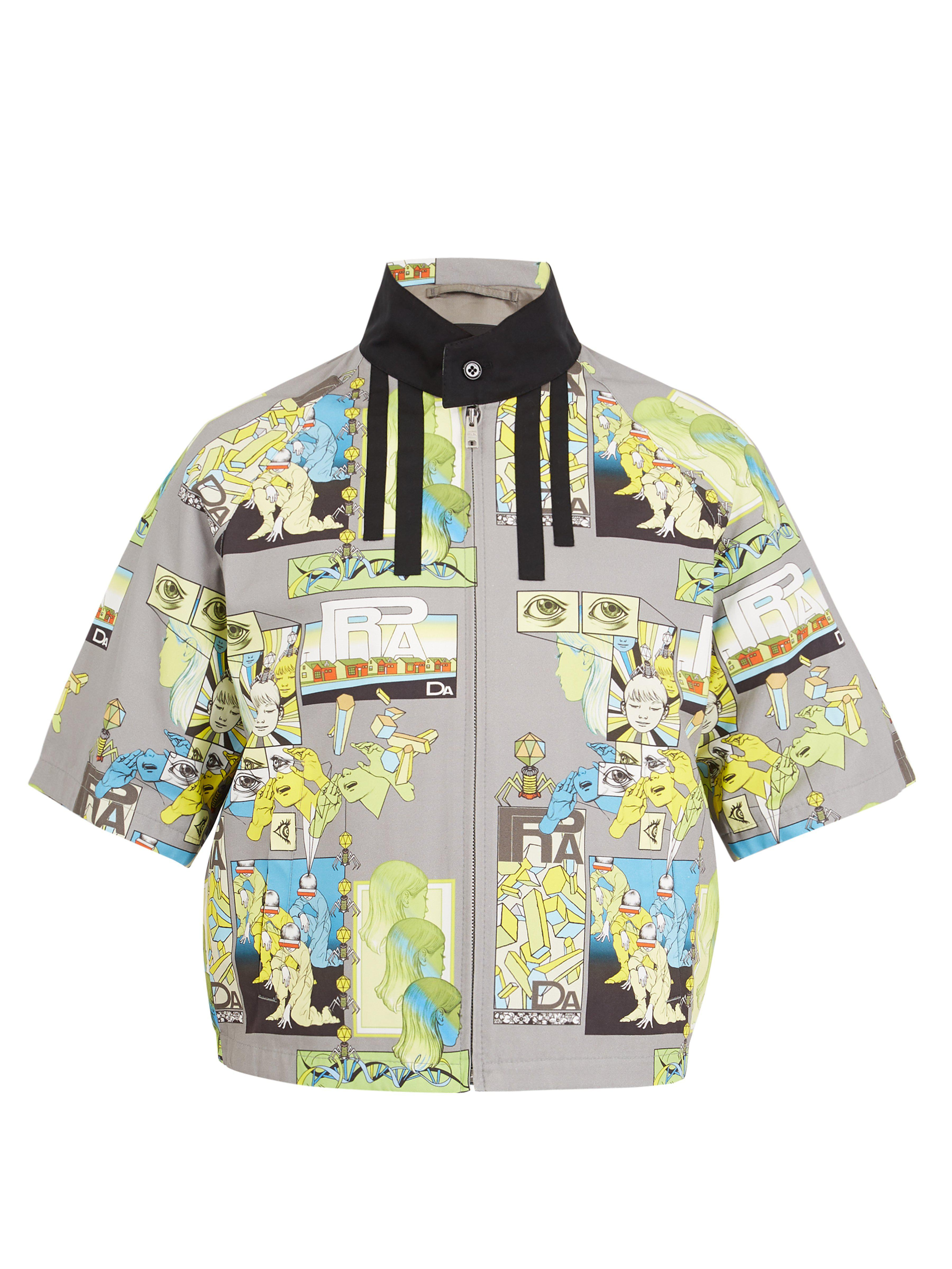 timeless design b689b baec6 prada-grey-multi-Comic-Print-Short-Sleeved-Jacket.jpeg