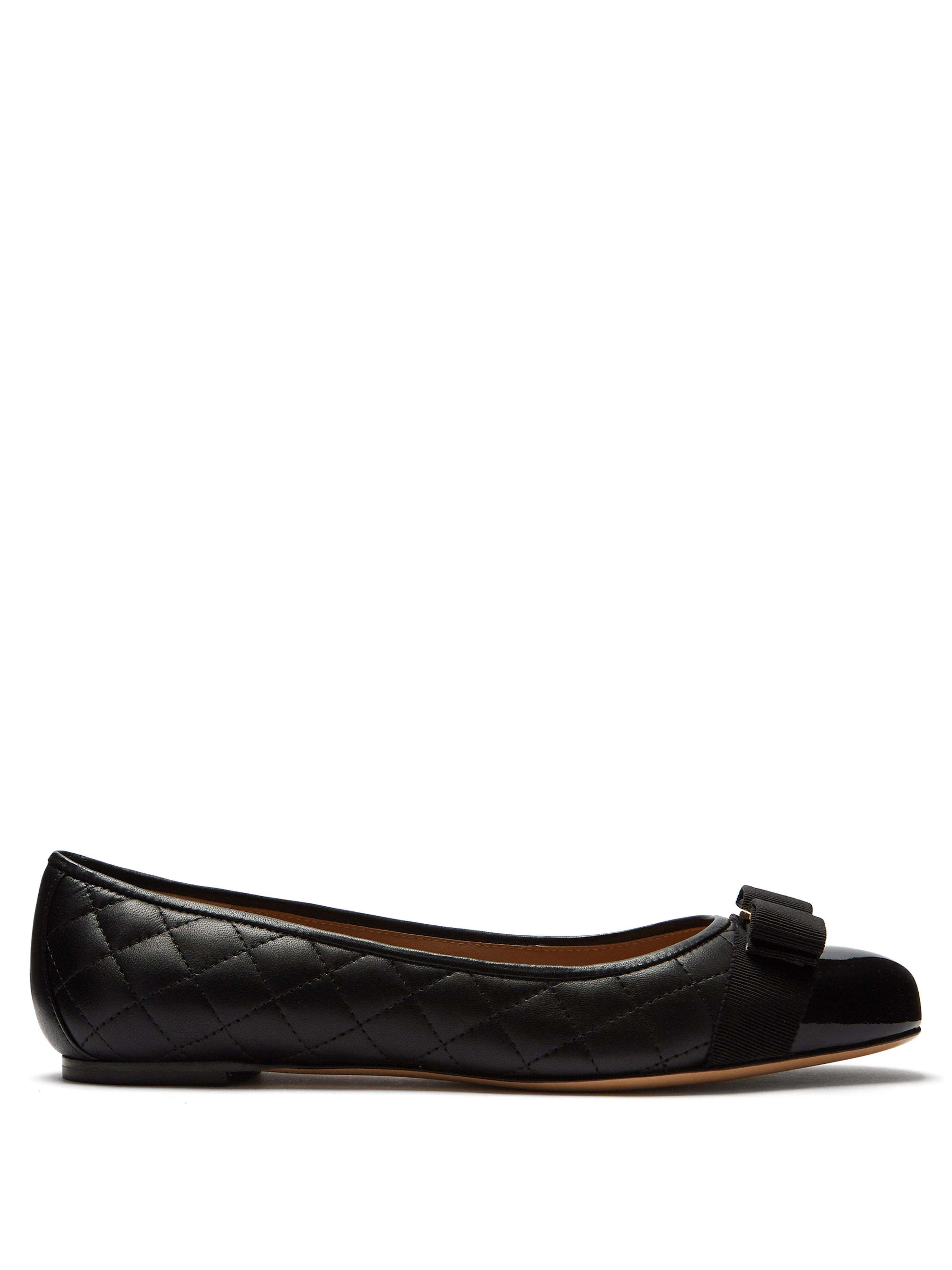 wholesale buy thoughts on Ferragamo Varina Quilted Leather Ballet Flats in Black - Save ...