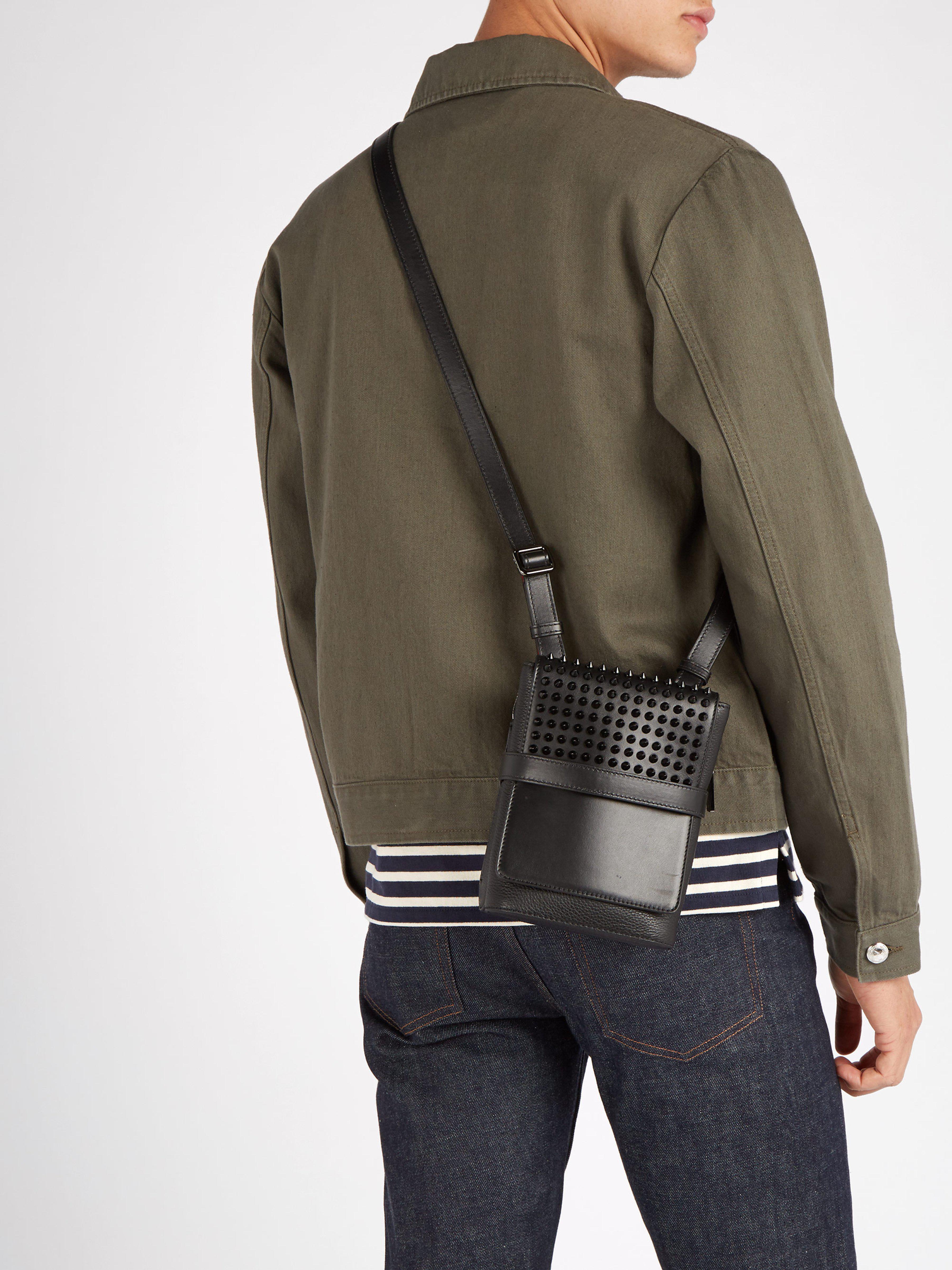 ... Small Spike Embellished Cross Body Bag for Men - Lyst. View fullscreen 321cd6791f67e
