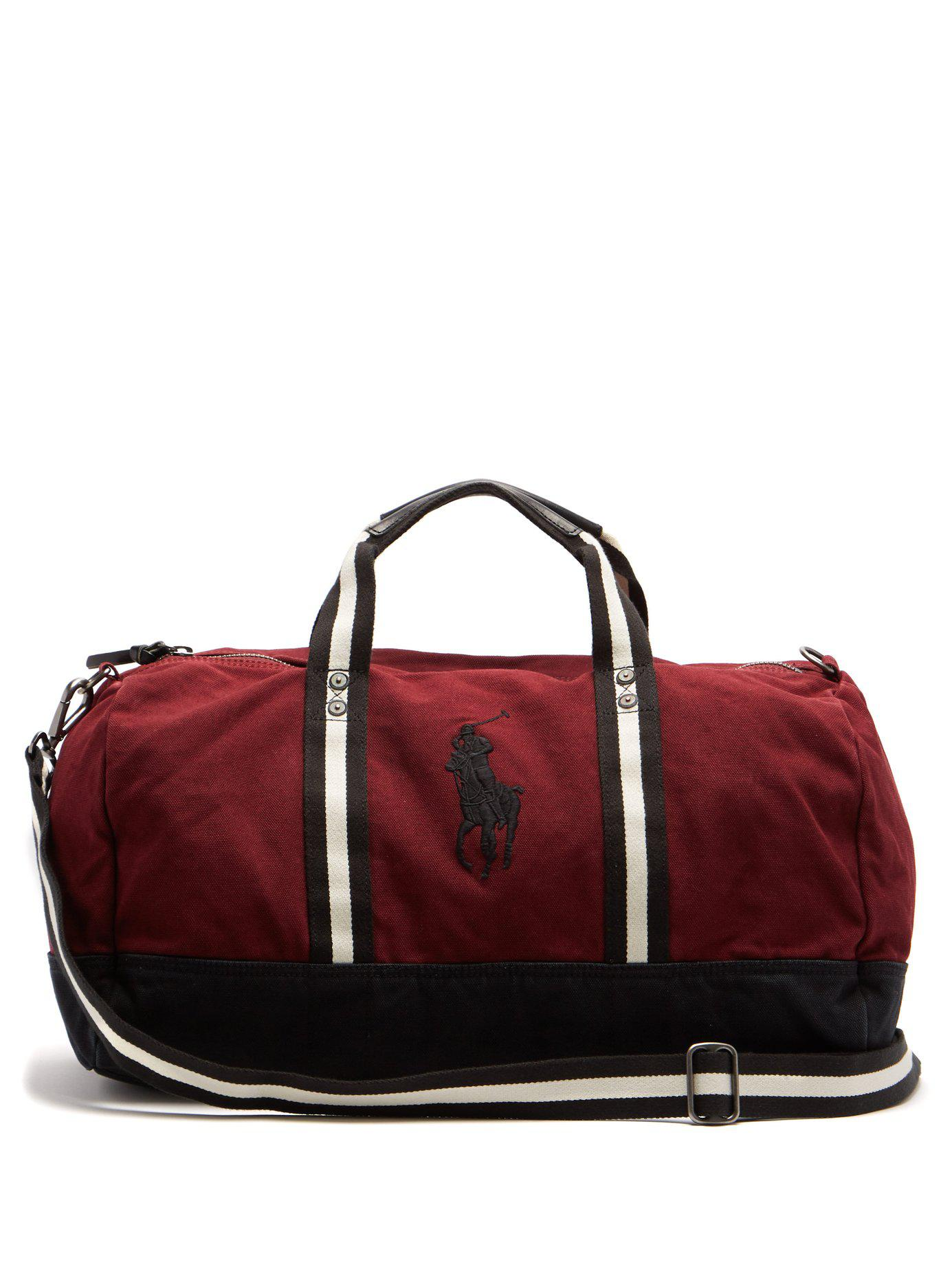 Lyst - Polo Ralph Lauren Cotton-canvas Holdall in Red for Men - Save ... 70e8d51273