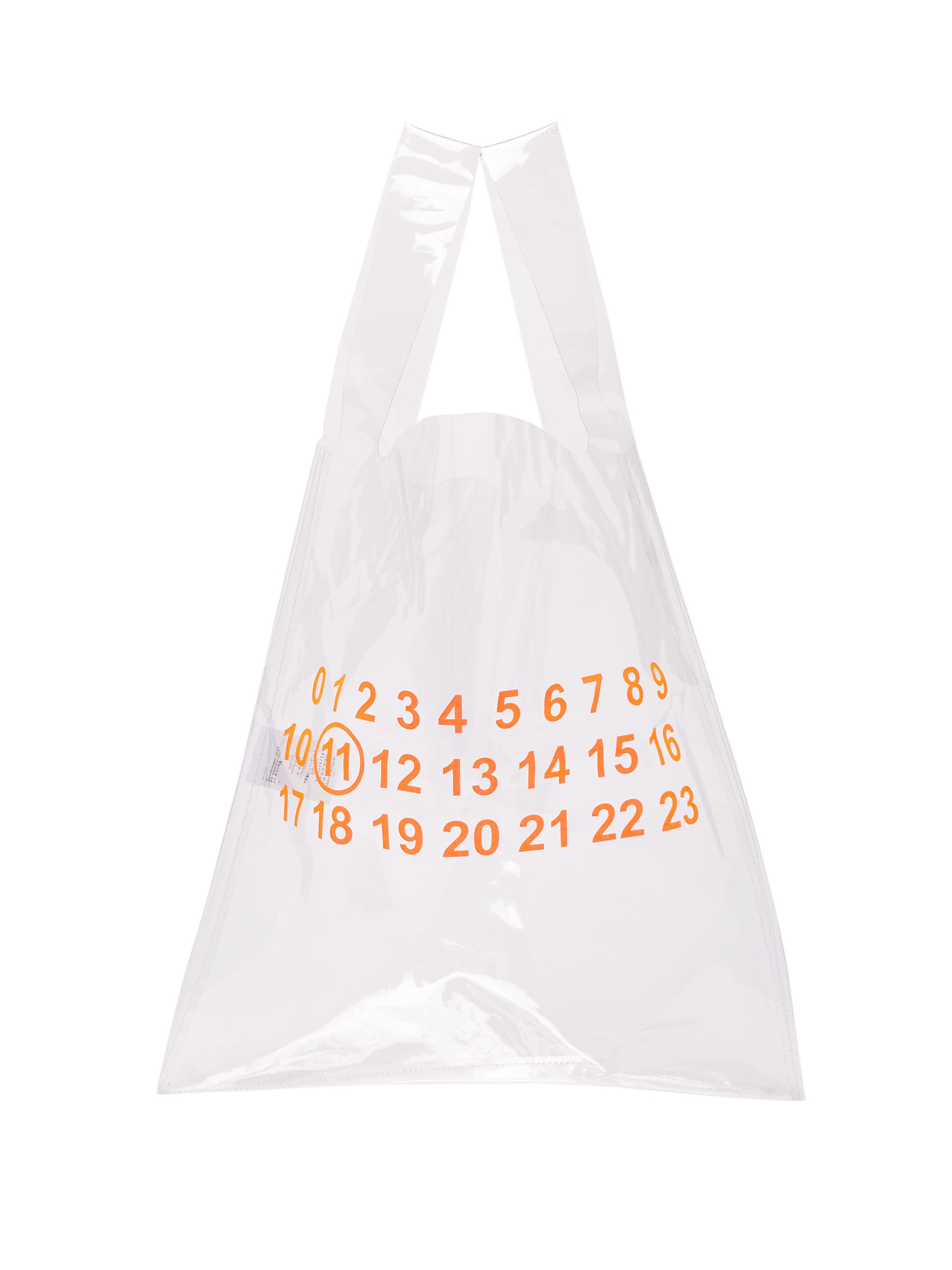 b237816e11 Sac de shopping transparent Maison Margiela pour homme en coloris ...