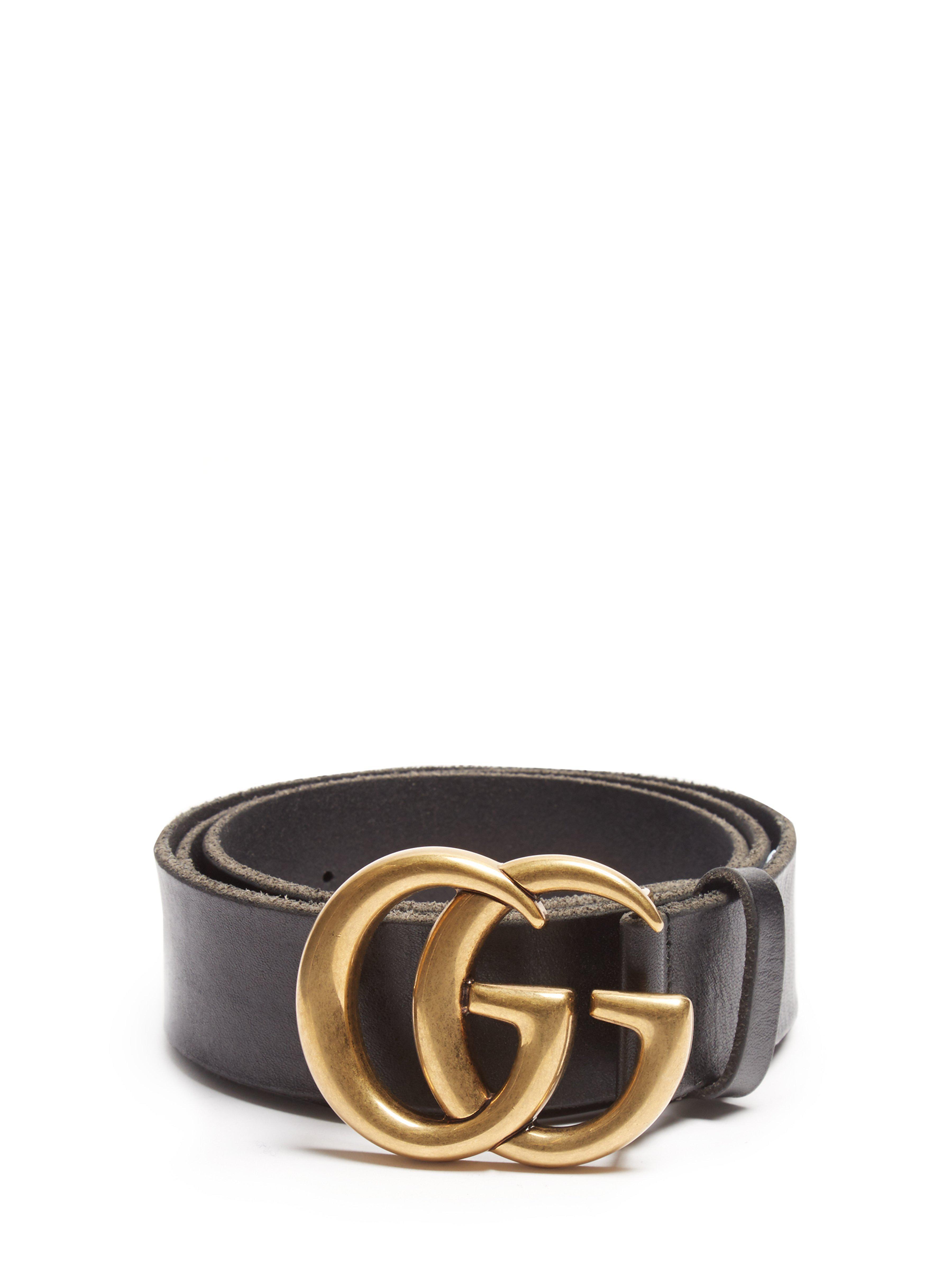 3124a04009f Lyst - Ceinture en cuir GG Gucci pour homme en coloris Noir - 68 ...