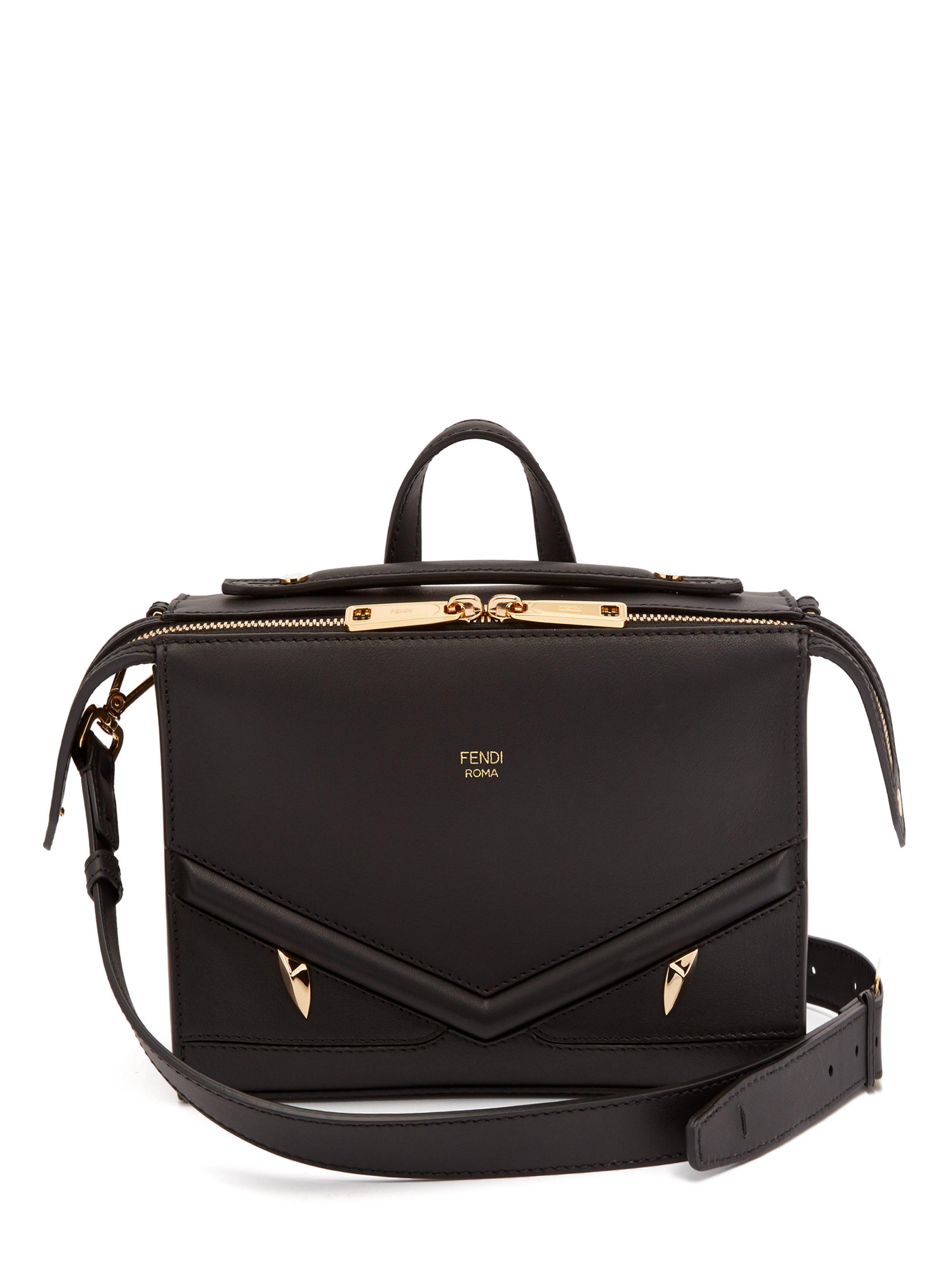 95fc5f5262d7 Fendi Monster Mini Leather Messenger Bag in Black for Men - Lyst