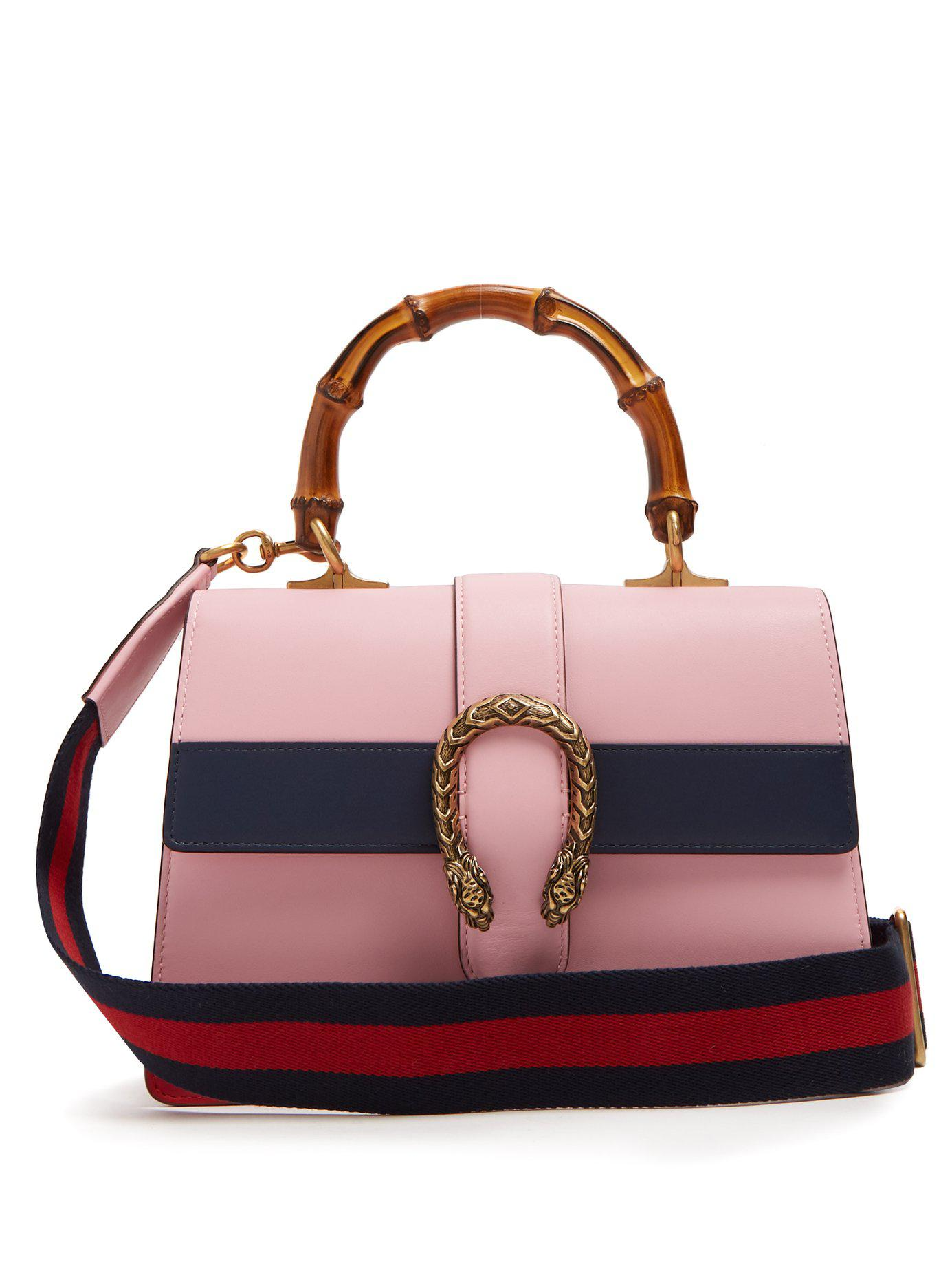 c59aafd26 Gucci Dionysus Medium Bamboo Handle Leather Bag in Pink - Lyst