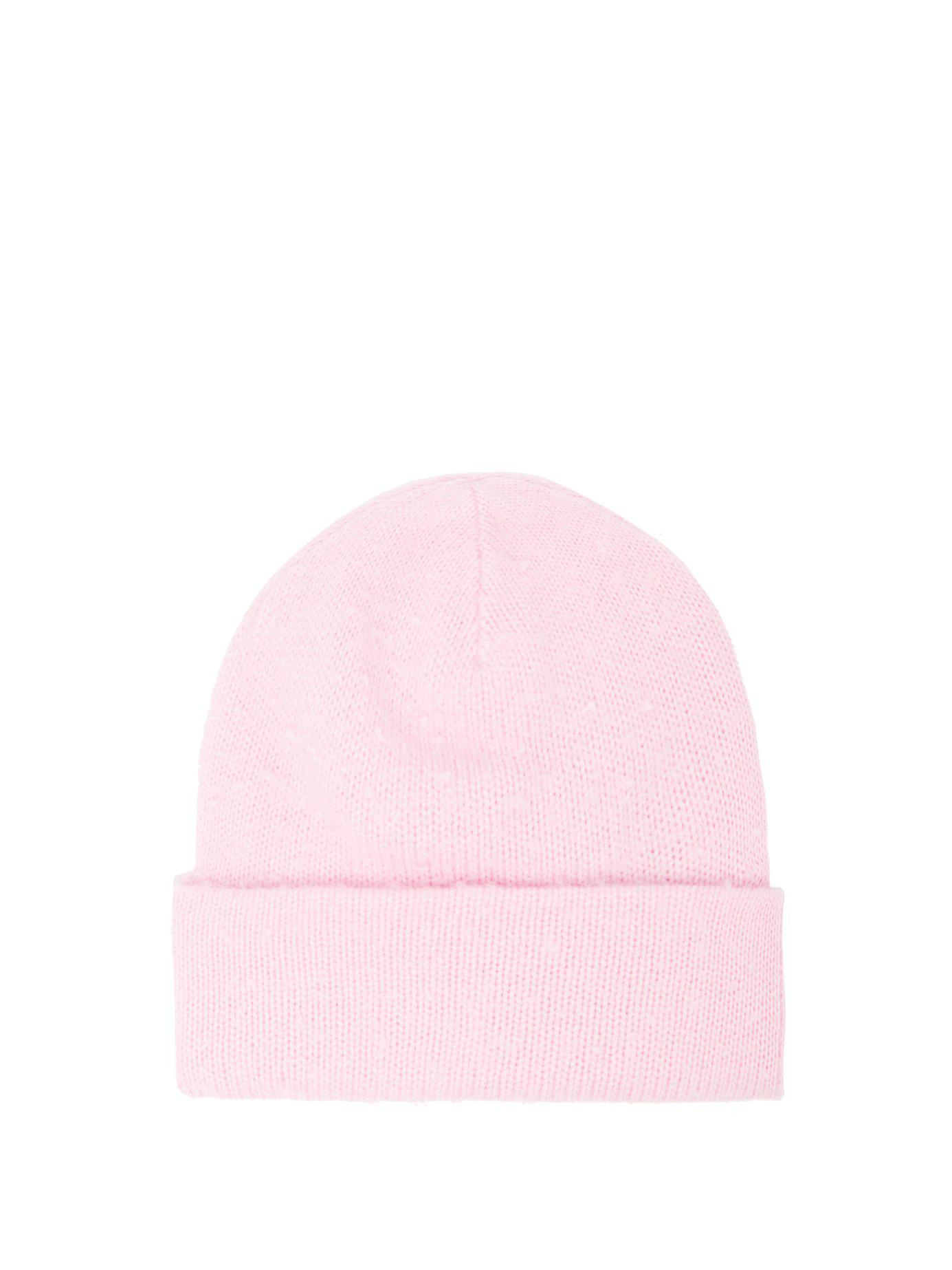 e4d3b45e54f Acne Studios Pilled Wool Blend Beanie Hat in Pink for Men - Lyst