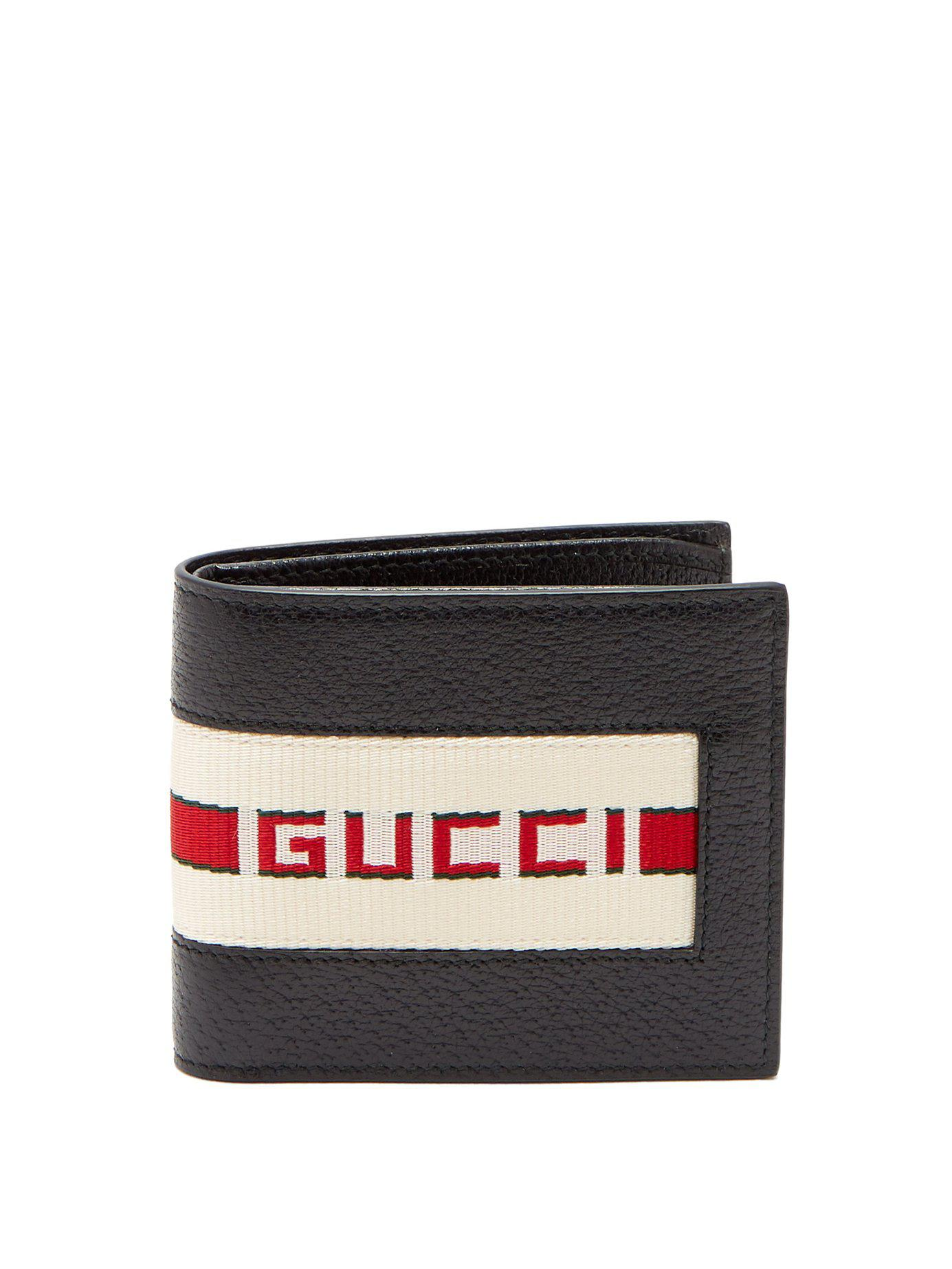 196886d9e68b Gucci Bi Fold Wallet With Retro Logo in Black for Men - Save 23% - Lyst