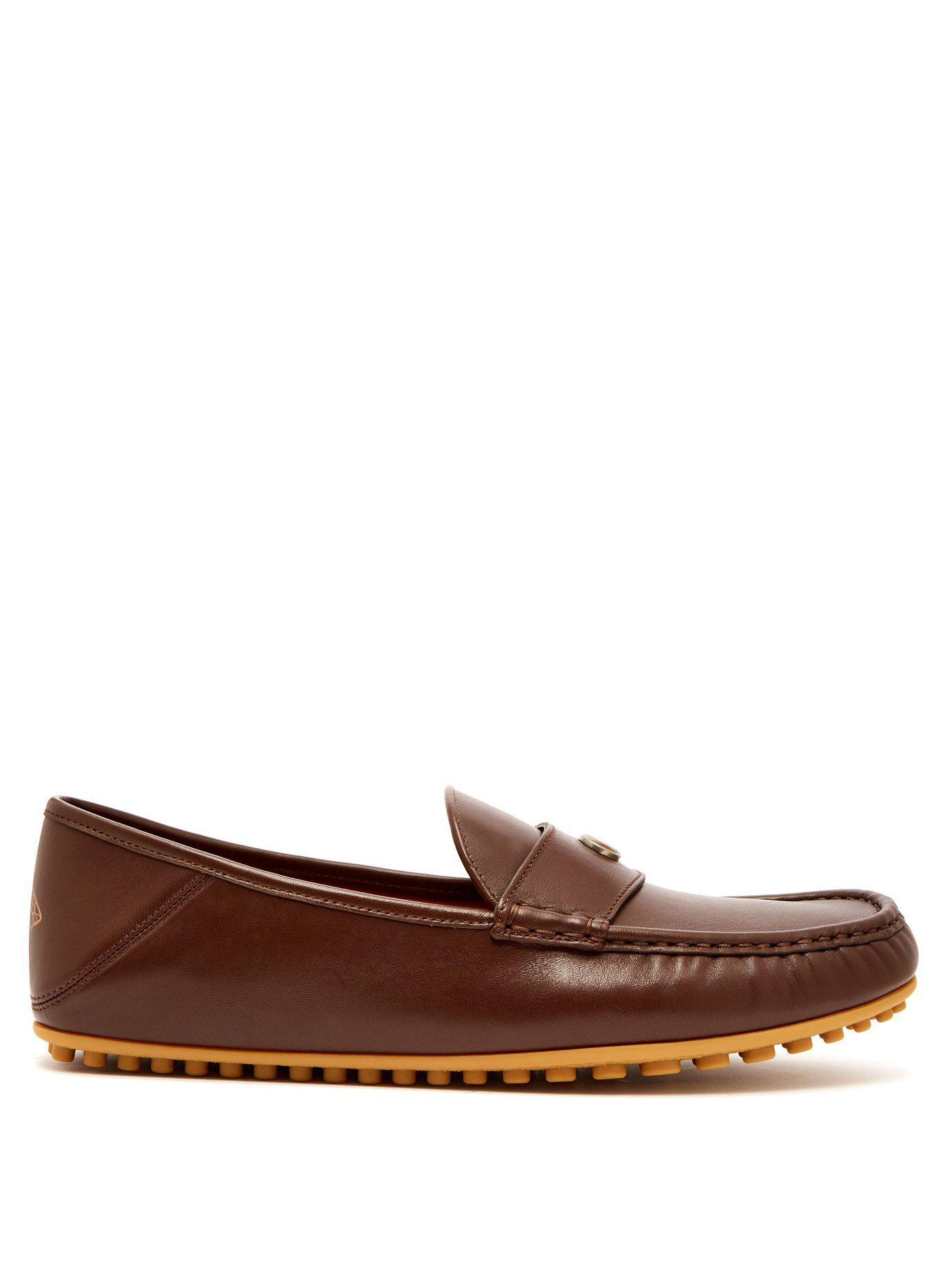 89a13fd1cac Lyst - Gucci Kanye Leather Loafers in Brown for Men