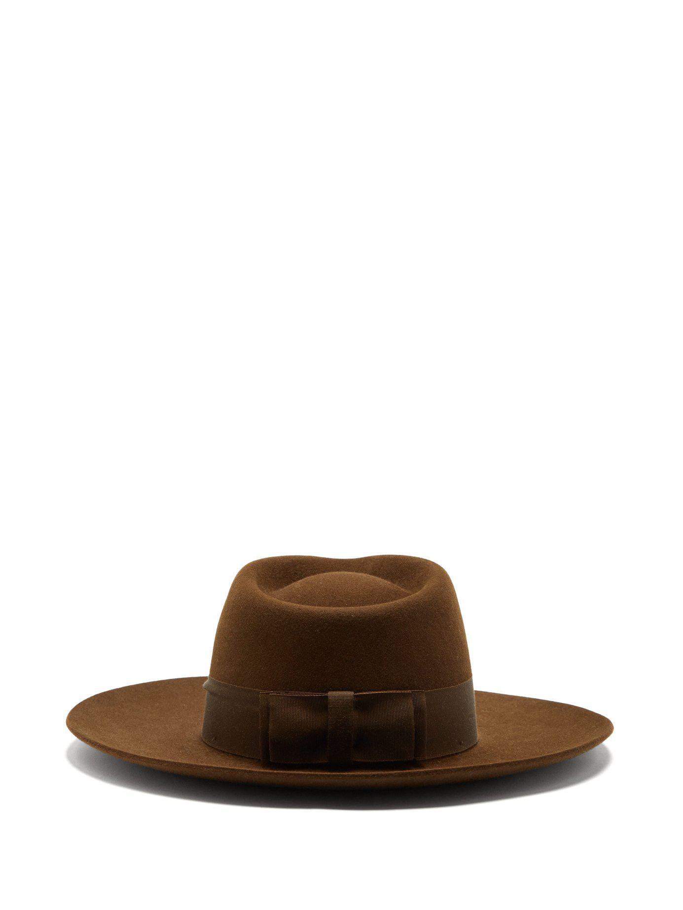 af15b80ec6a Hillier Bartley - Brown X Lock   Co. Portobello Felt Fedora Hat - Lyst.  View fullscreen