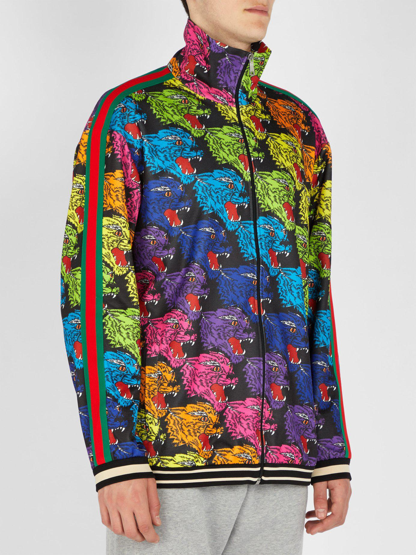 72aa6ae442e Lyst - Gucci Angry Tiger Printed Track Top for Men - Save 23%
