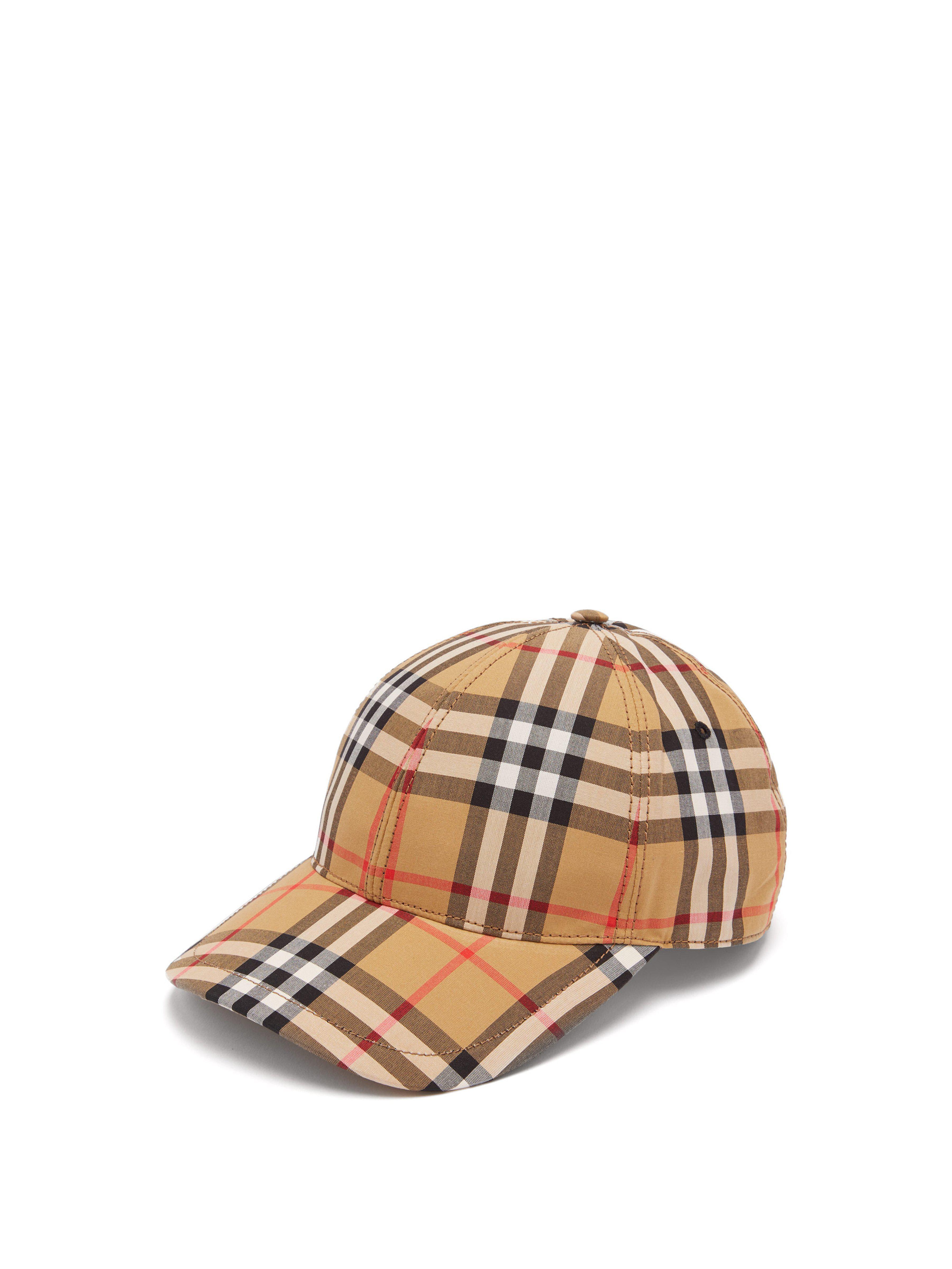 6069cb8de43b Lyst - Casquette en coton à motif Vintage check Burberry pour homme