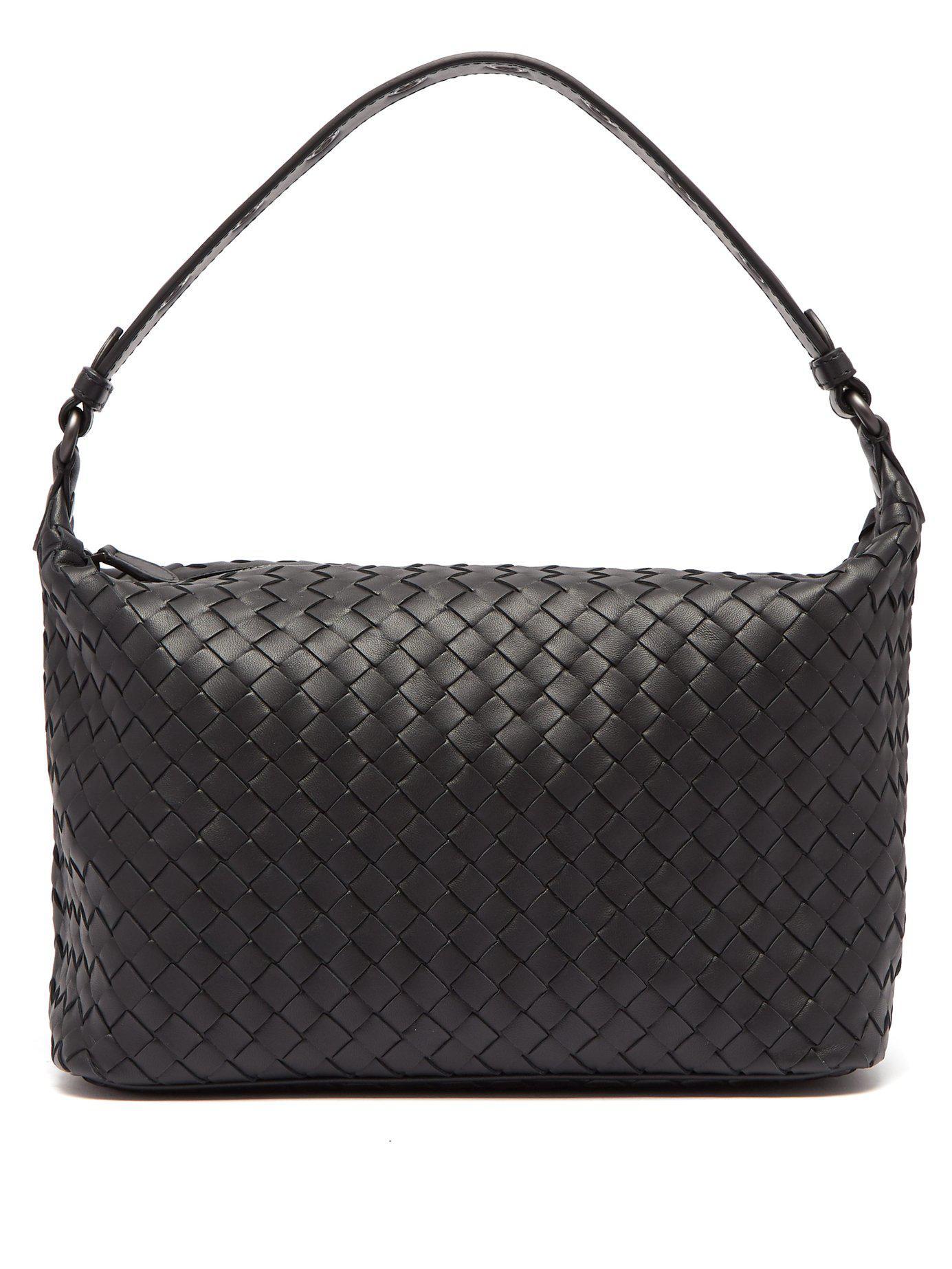 fdba52e6a3d5 Bottega Veneta. Women s Black Ciambrino Intrecciato Leather Shoulder Bag