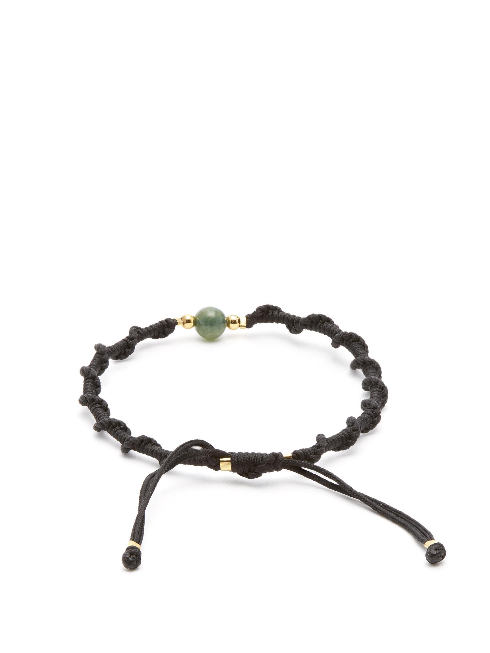 Top Quality Online Sale 100% Authentic Moss-agate and gold-vermeil bracelet Black Dakini CN6rTlO1