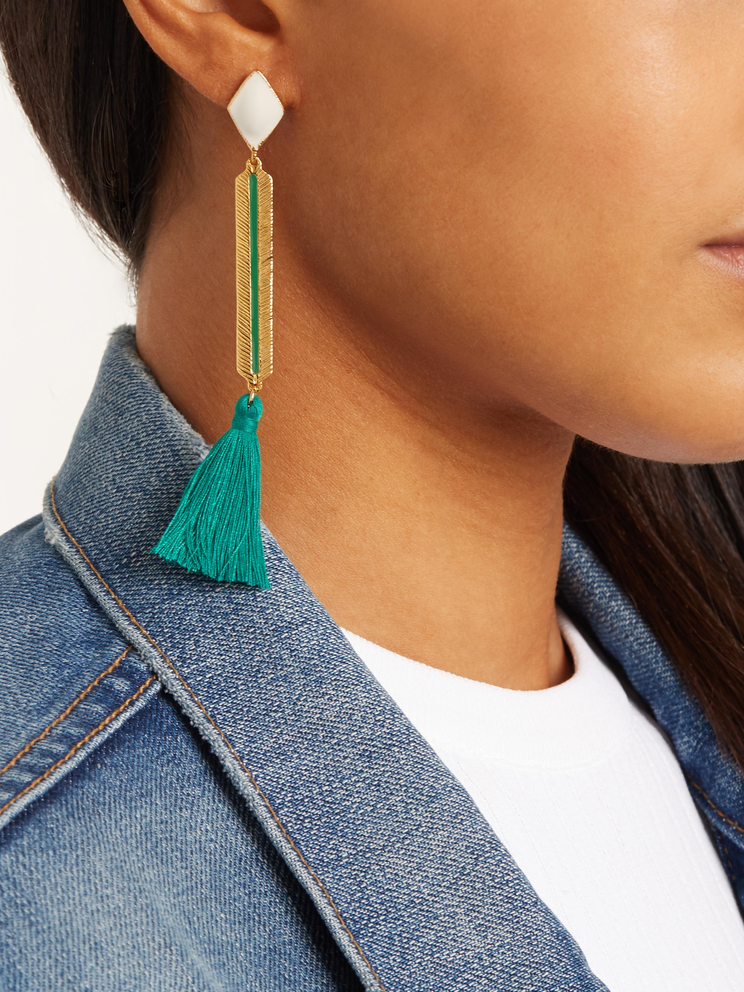 Marte Frisnes Izzy gold-plated tassel-drop earrings o60M3xcr