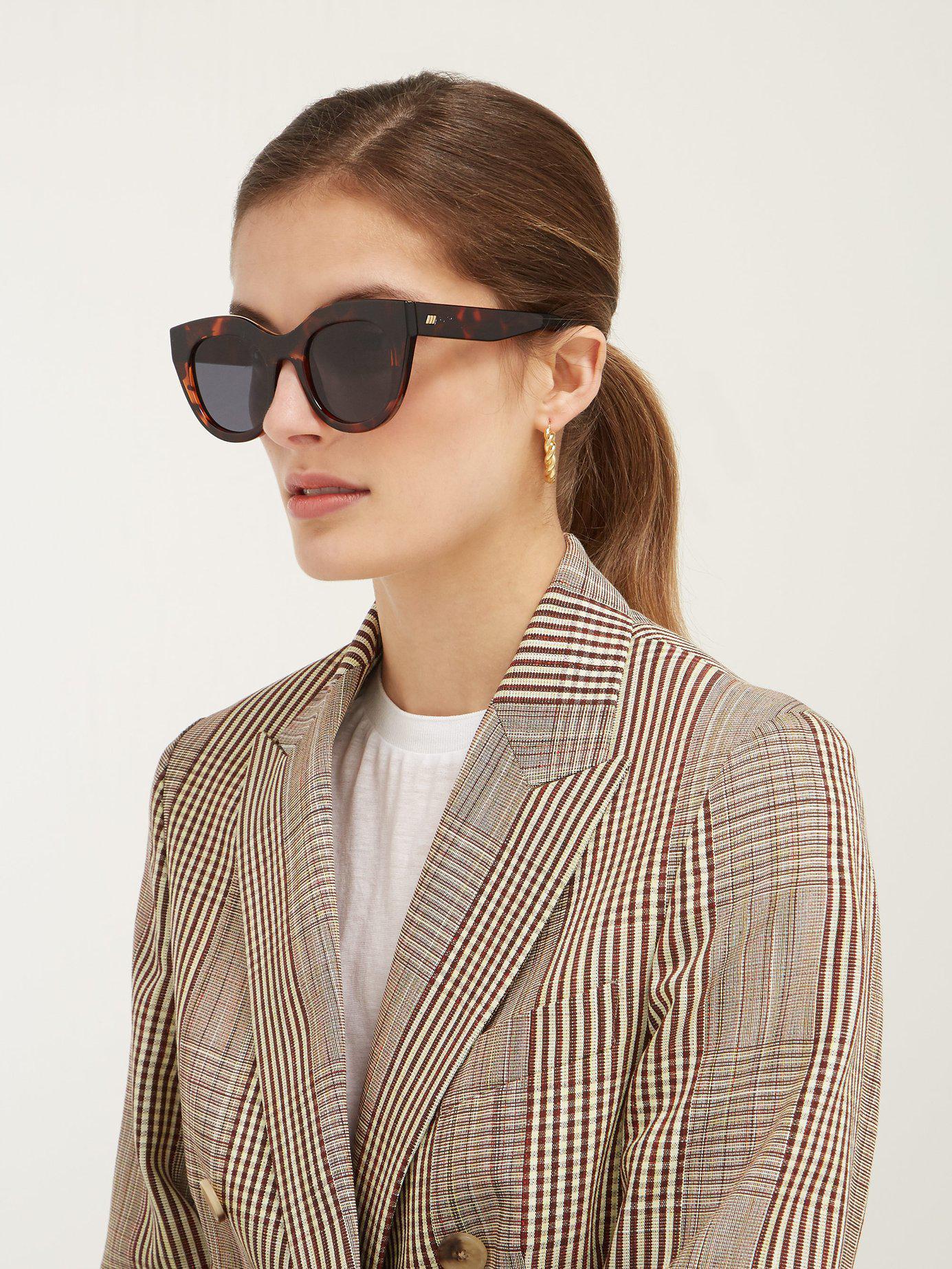 4c4d7c4079f Lyst - Le Specs Air Heart Cat Eye Acetate Sunglasses
