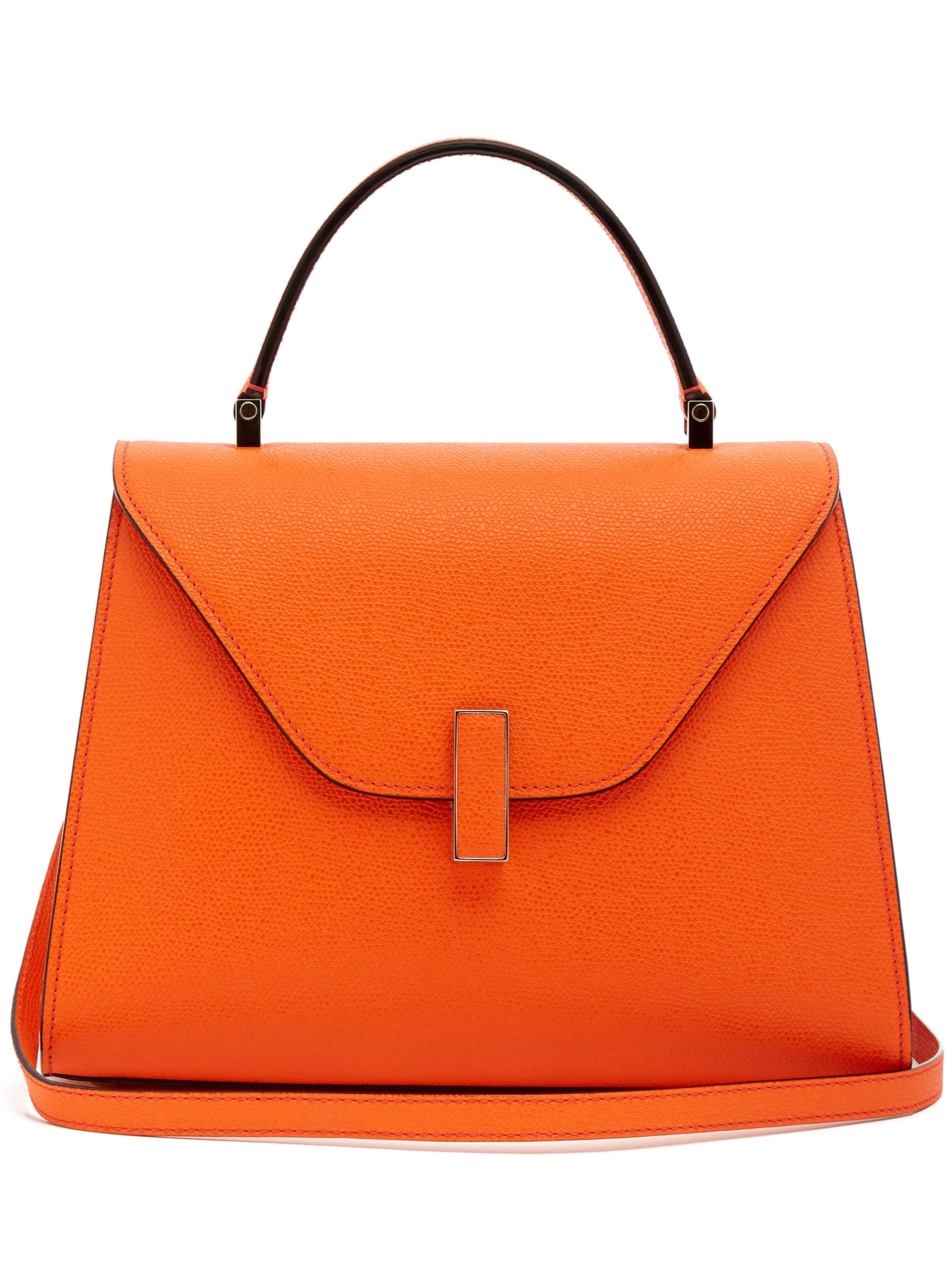 06cf193153fb1b Sac en cuir grainé Iside medium Valextra en coloris Orange - Lyst