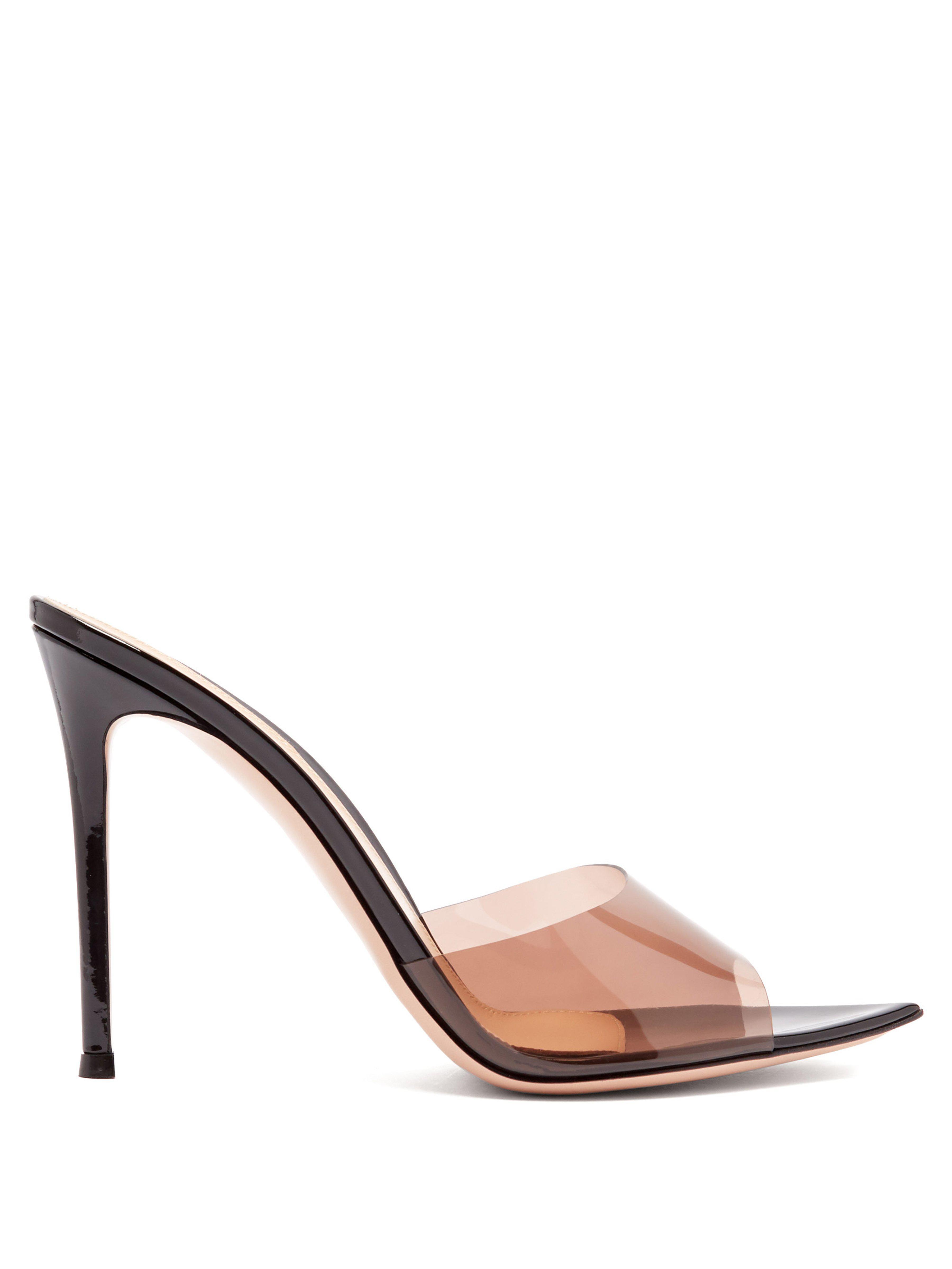 9fa45c4daec2 Gianvito Rossi Elle 105 Patent Leather Mules - Lyst