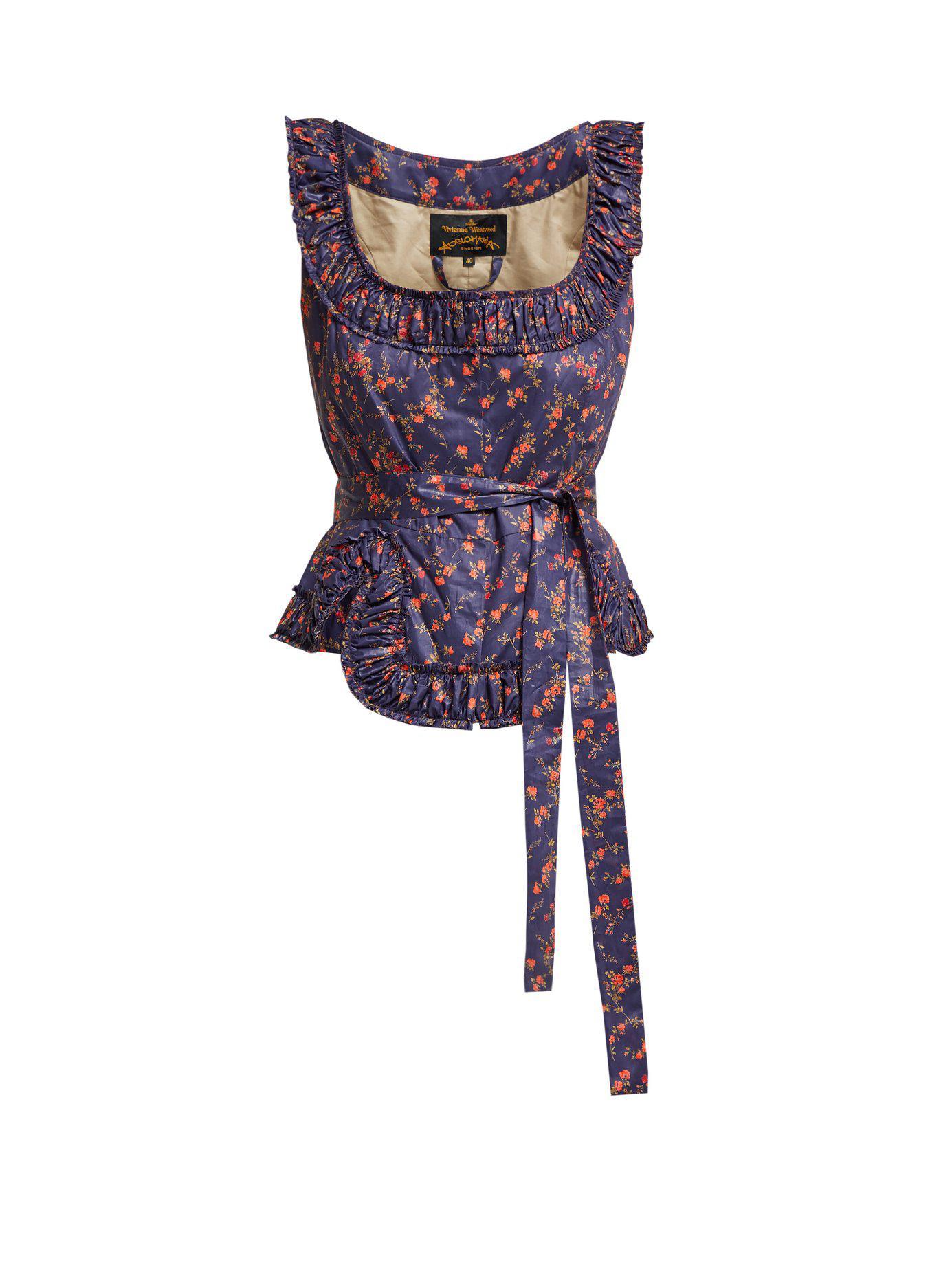 Lyst - Vivienne Westwood Anglomania Revolution Floral Print Cotton ... 2596697ca