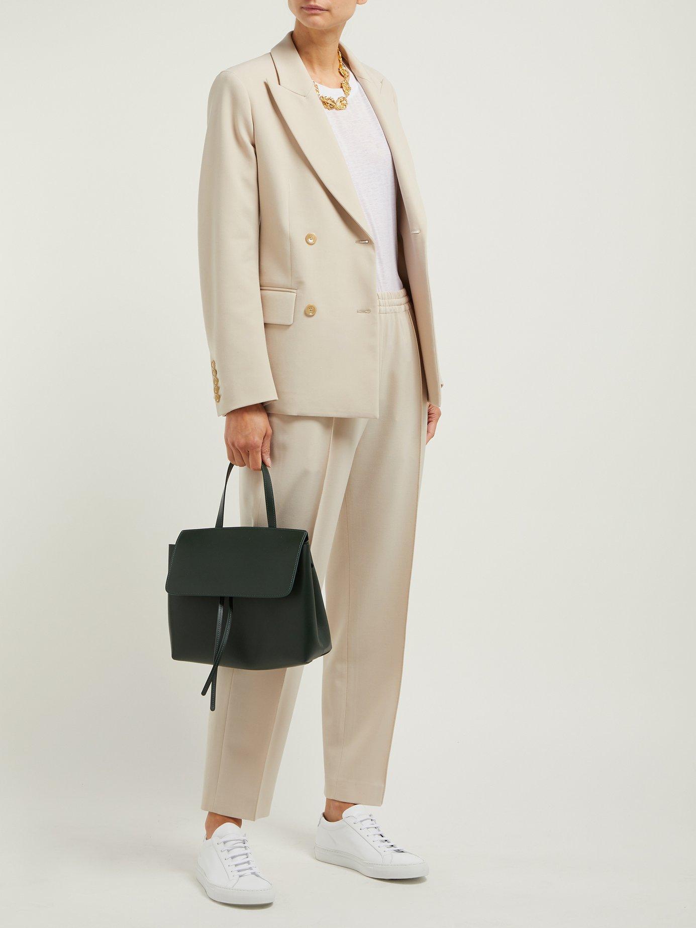 2d706d8d314d Lyst - Mansur Gavriel Mini Lady Leather Cross Body Bag in Green