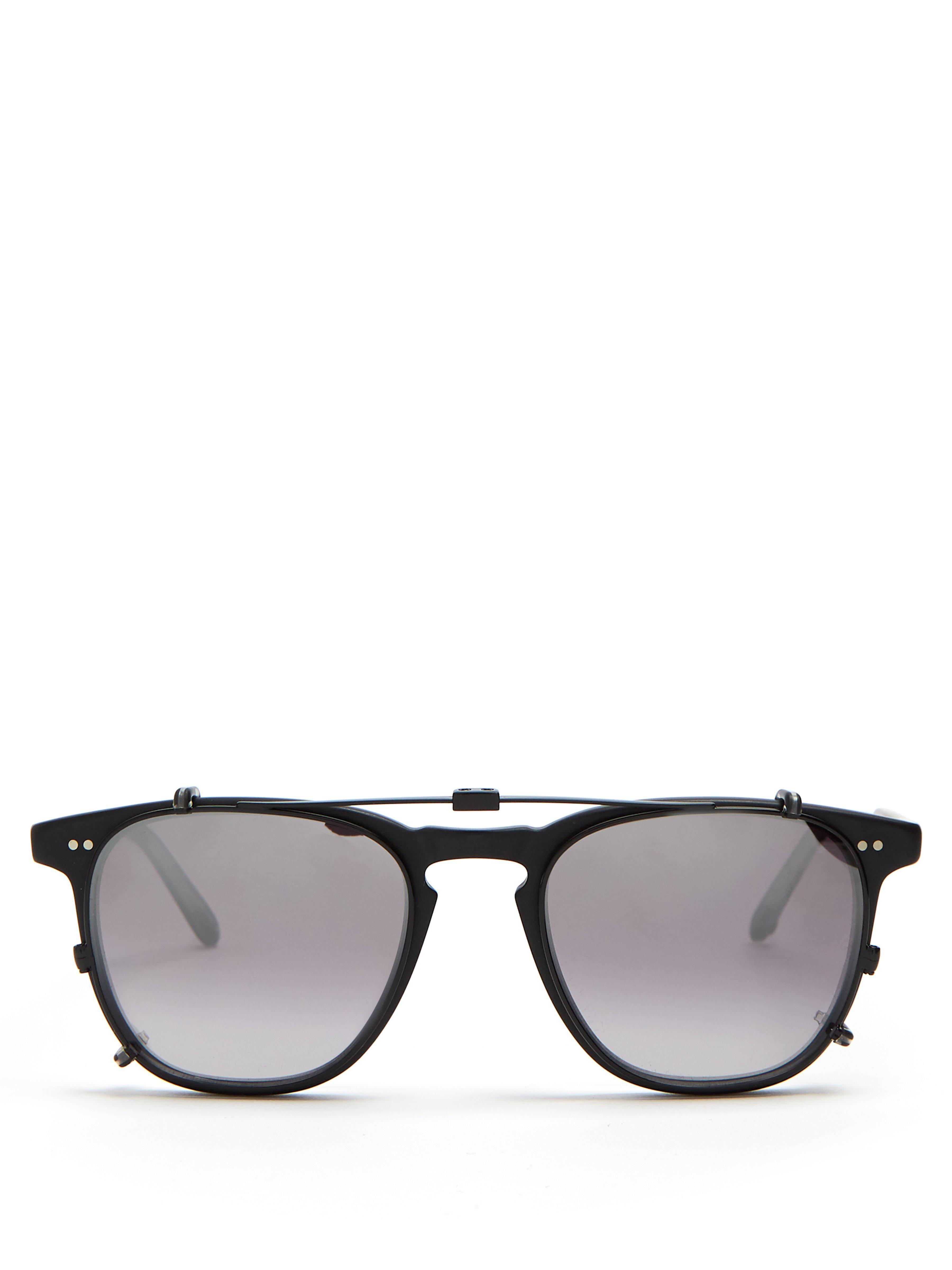 23d1f082976 Garrett Leight Brooks 47 Glasses in Black for Men - Lyst