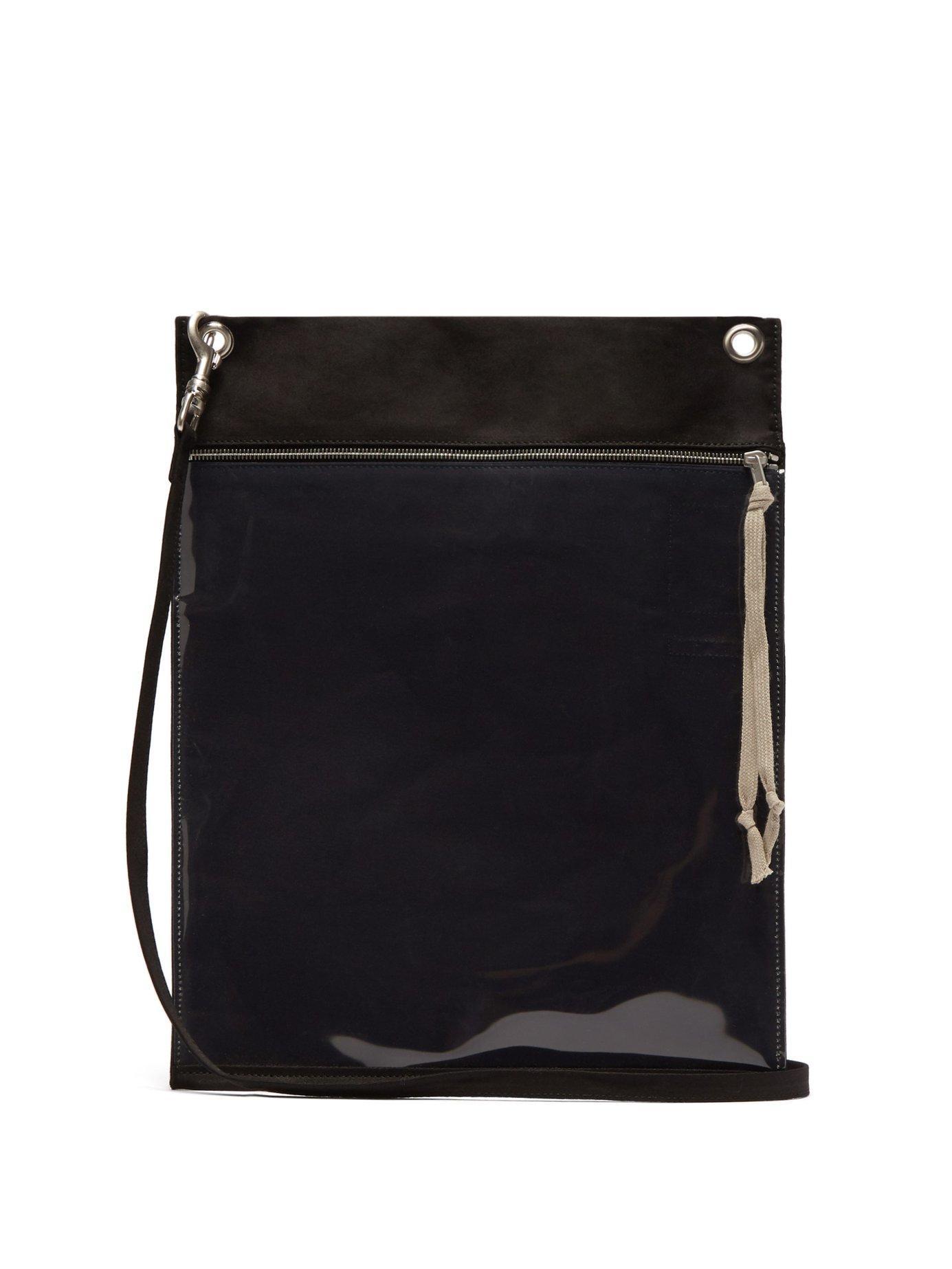Lyst - Rick Owens Drkshdw Plastic Pocket Cotton Cross Body Bag in ... efda73737e468