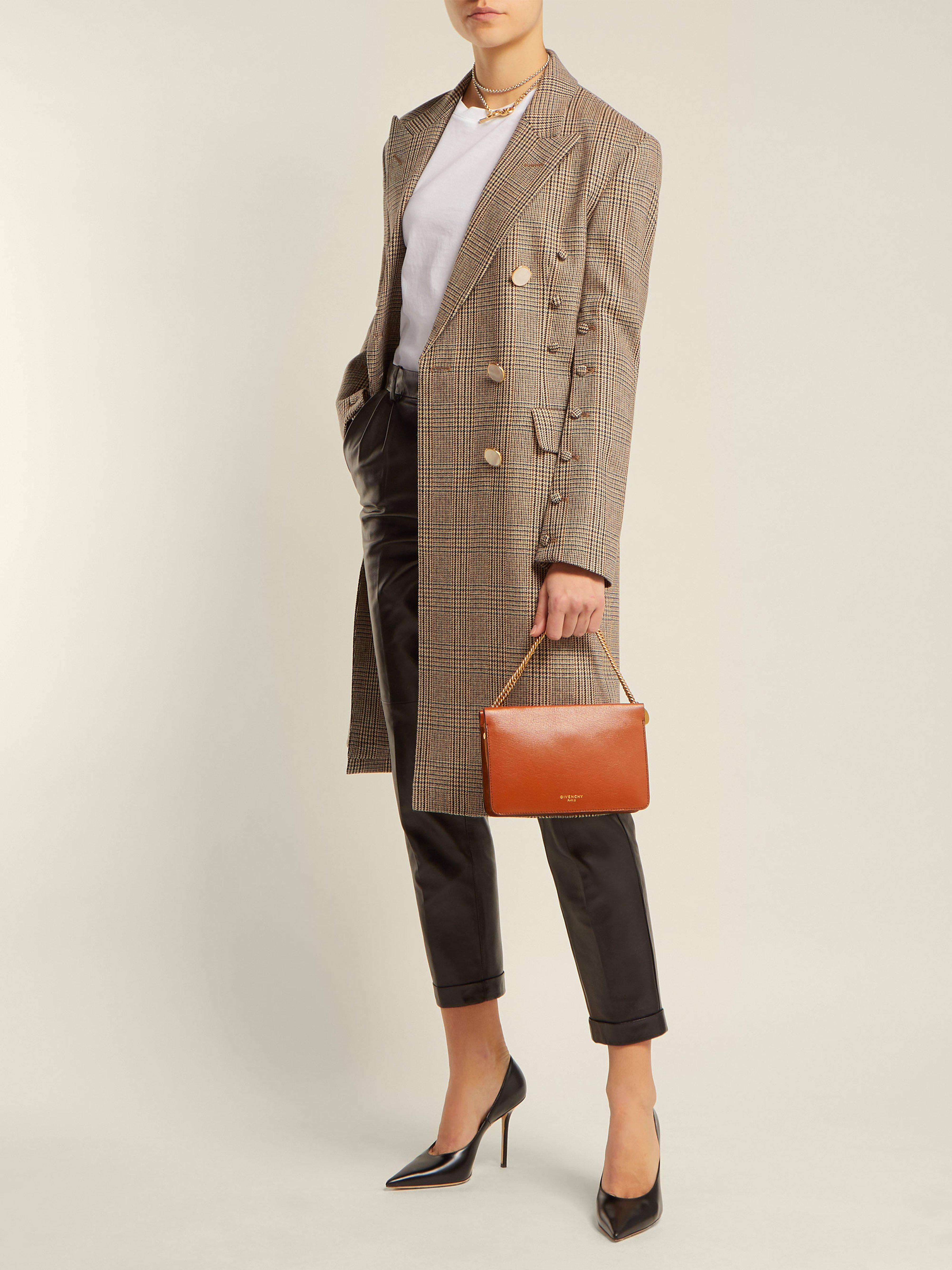 71daac10bb Givenchy Cross3 Leather Cross Body Bag in Brown - Lyst