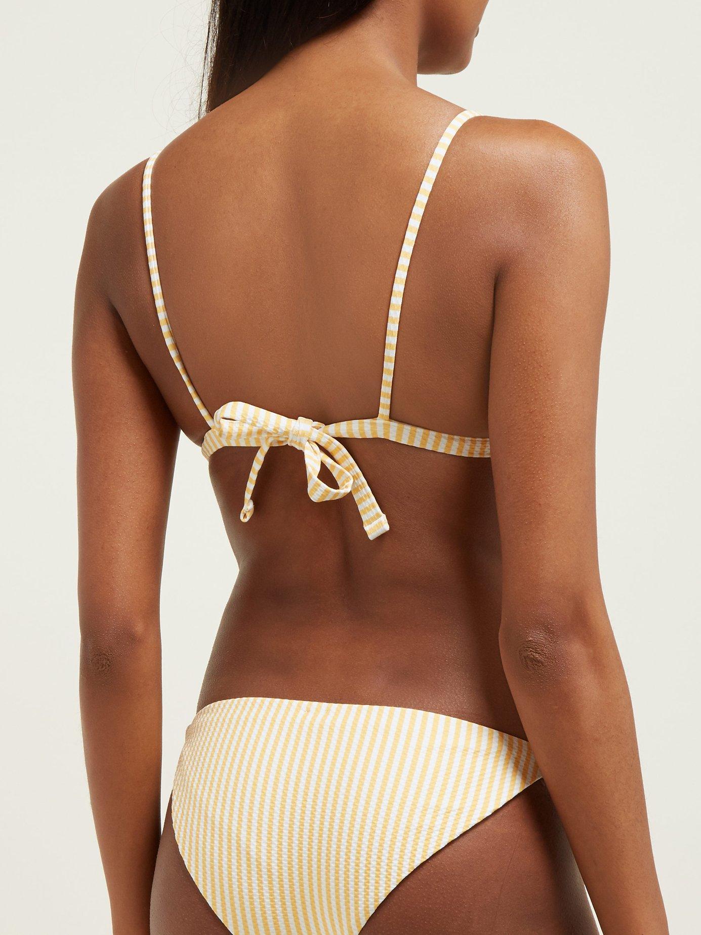 79c45db667 Asceno - Multicolor Striped Triangle Cup Bikini Top - Lyst. View fullscreen