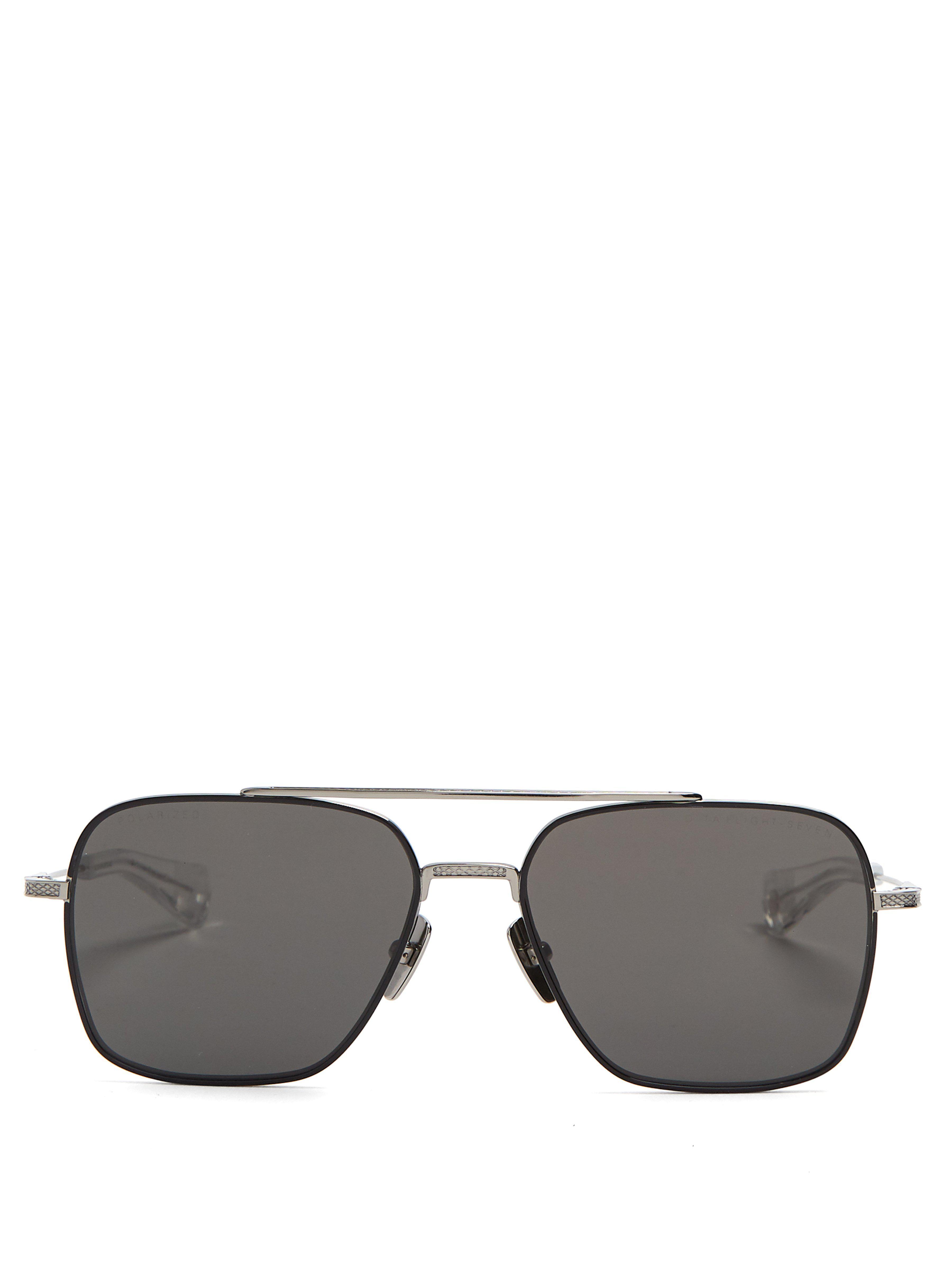 1e070b86c34 Dita Eyewear Flight Aviator Sunglasses in Black for Men - Lyst