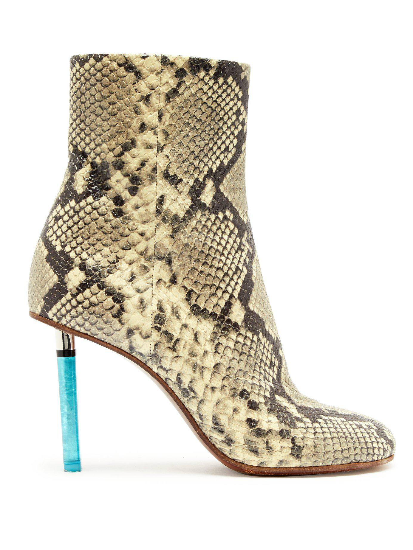 40730df78 Vetements. Women s Python Effect Lighter Heel Leather Ankle Boots