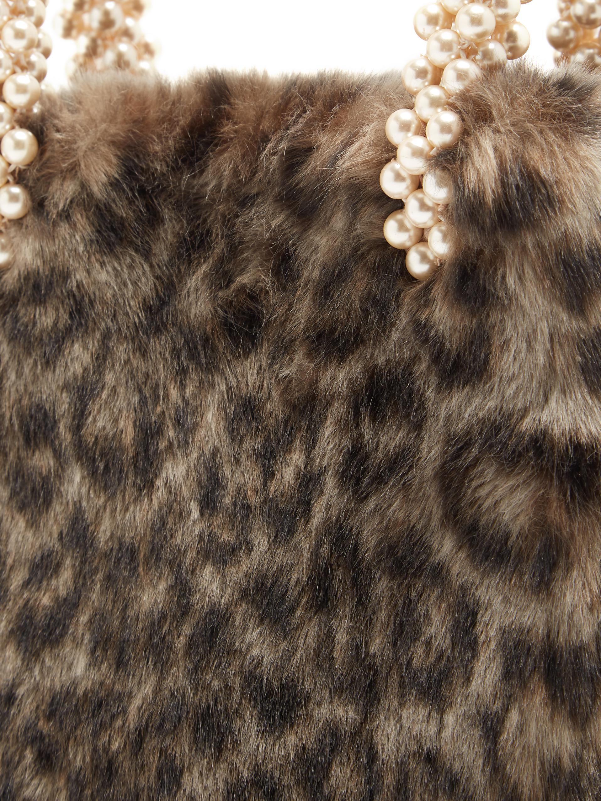 Shrimps Una Leopard-print Faux-fur Bag - Lyst 2ddeea54166b5