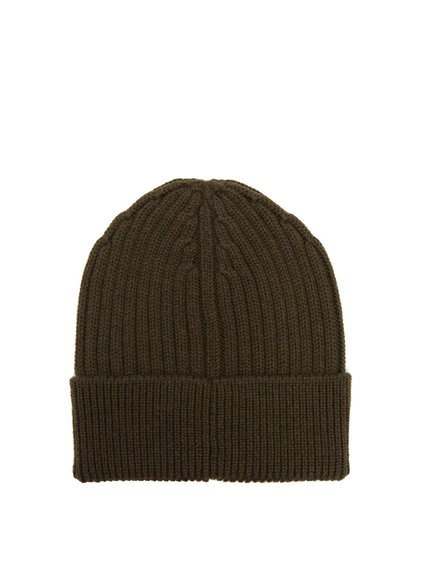 3e0236d1cfe Lyst - Moncler Grenoble Logo Embroidered Wool Beanie Hat for Men