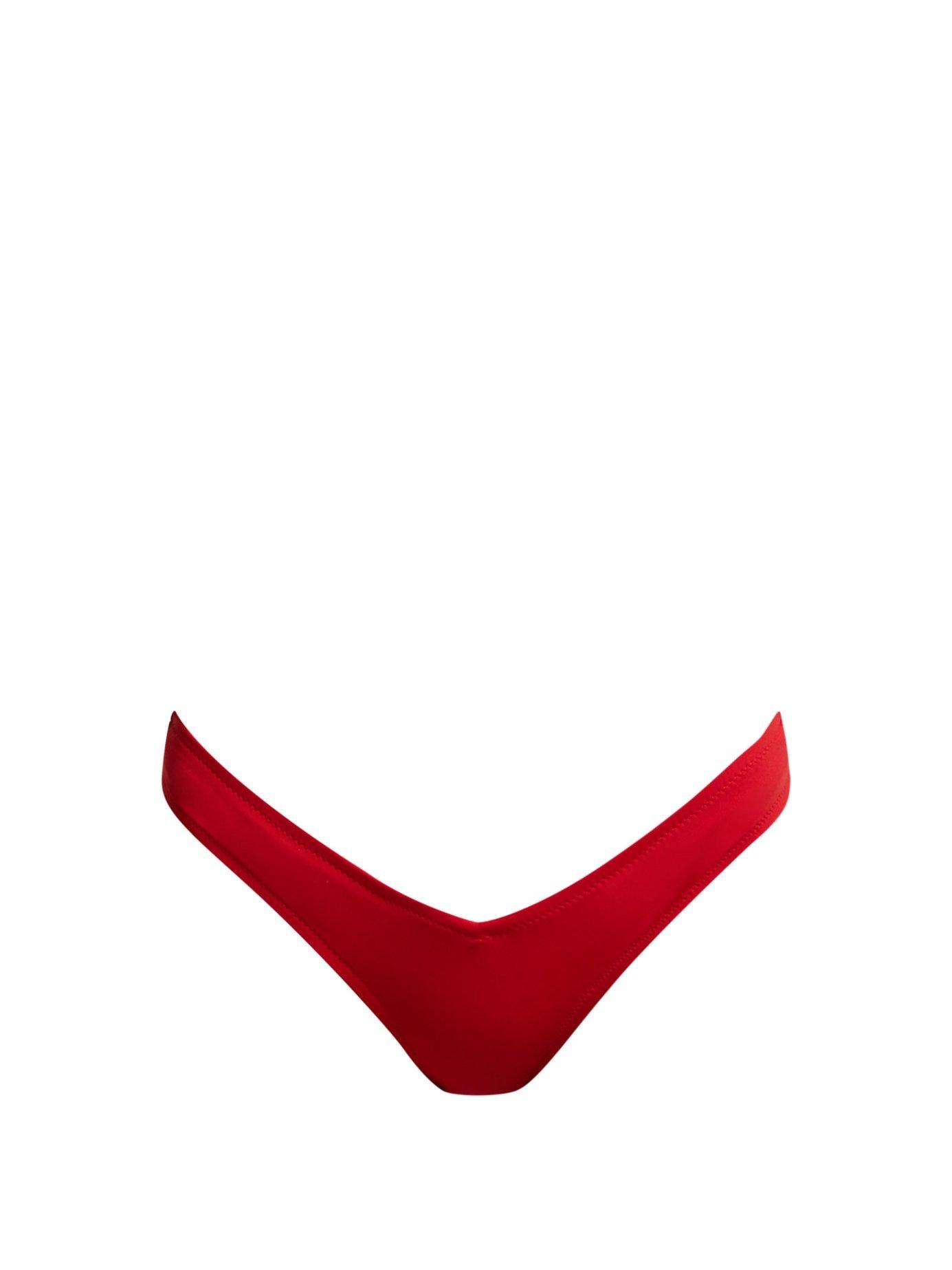 43075e4b493c9 Fisch - Red Toiny High Leg Bikini Briefs - Lyst. View fullscreen