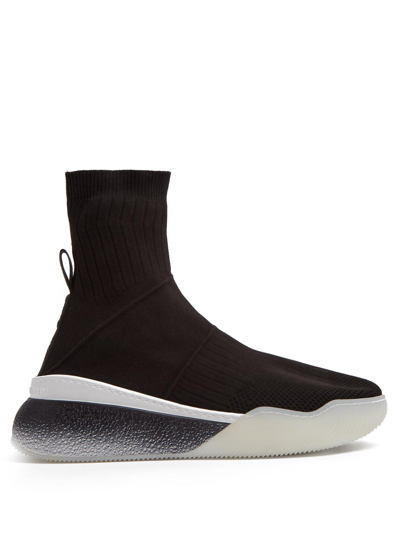 5a35657d3168 Lyst - Stella McCartney Loop Sock Trainers in Black - Save 22%