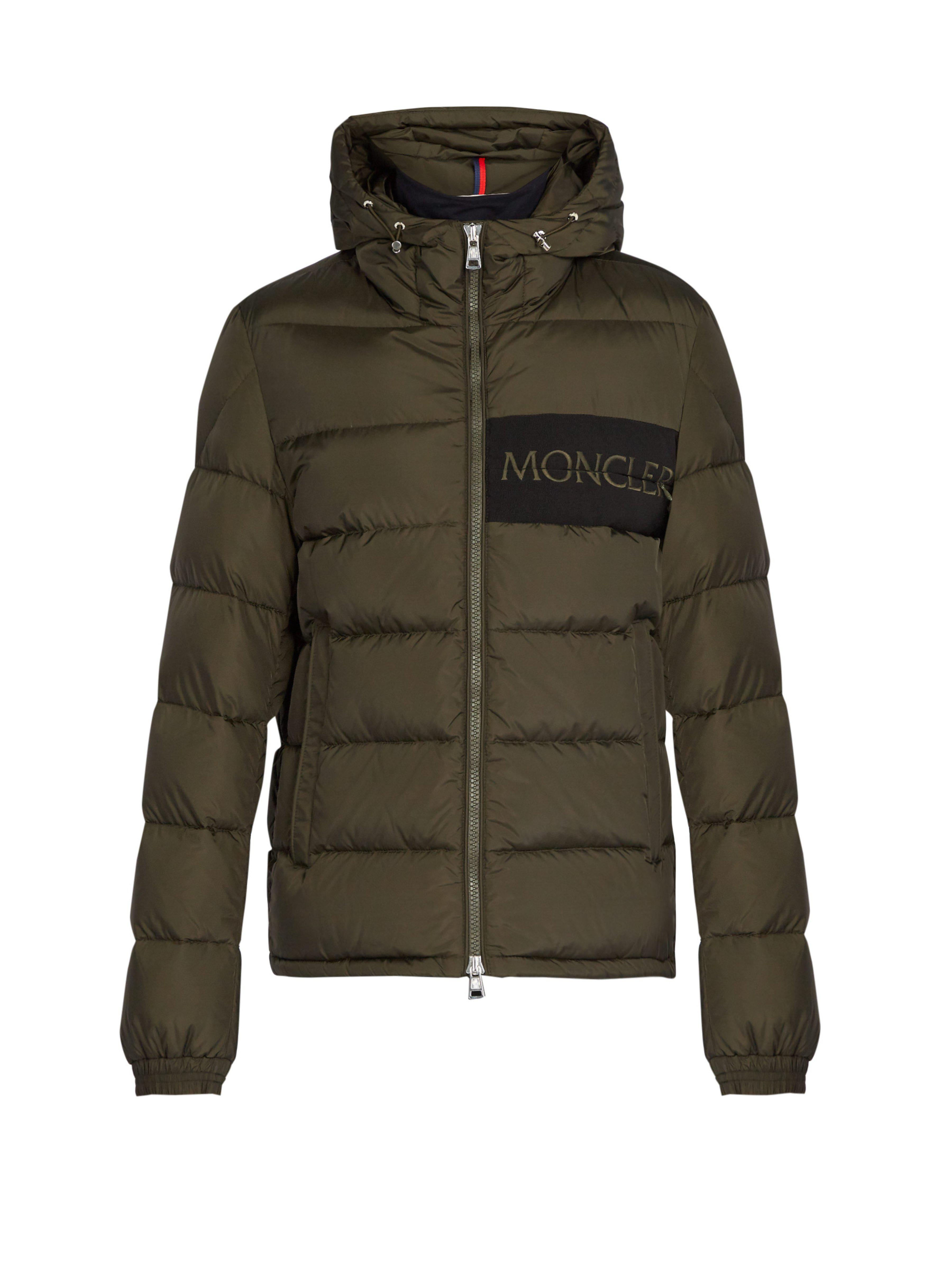 a2935d0ed Moncler Aiton Quilted Down Jacket in Green for Men - Lyst