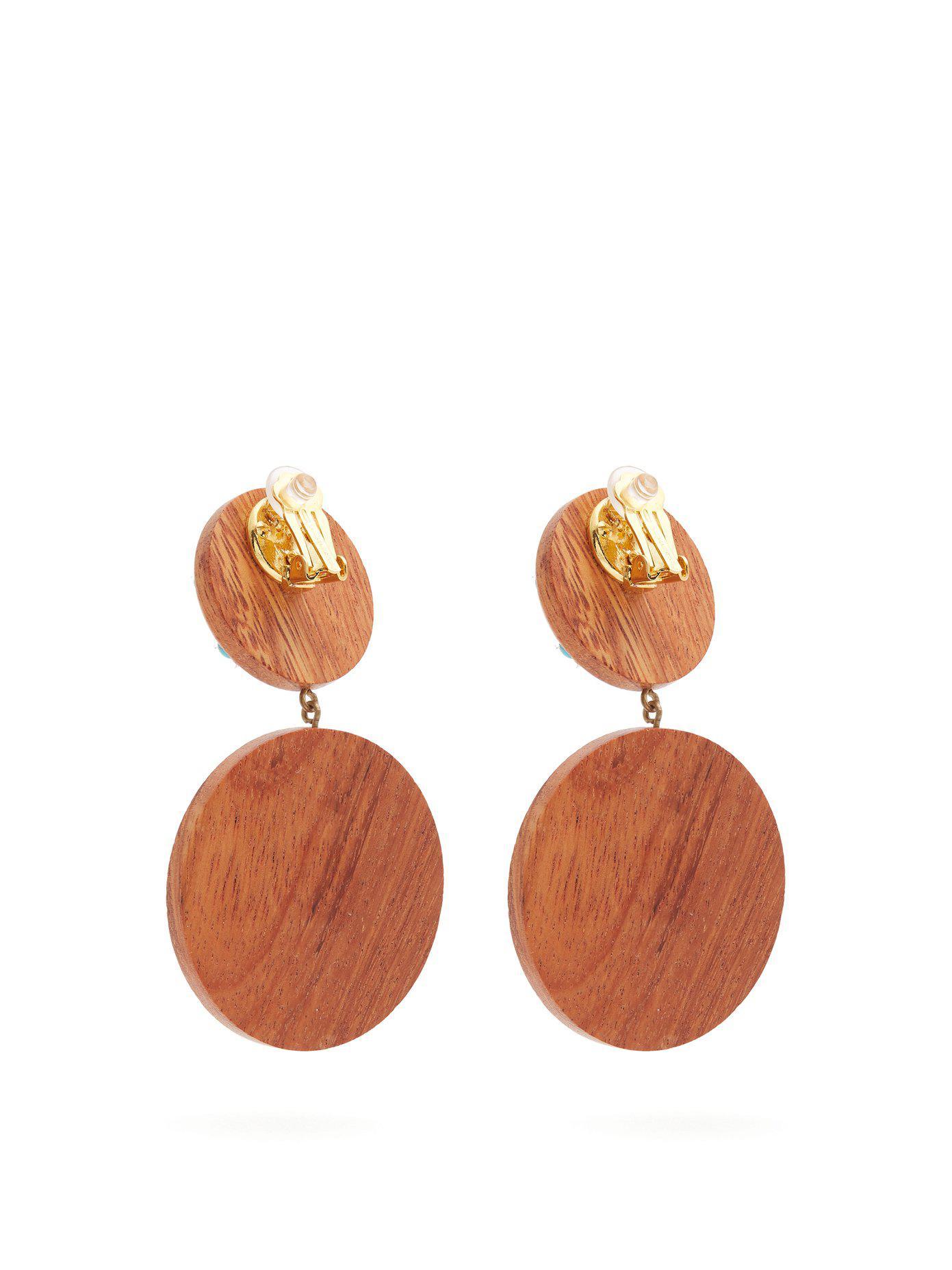 Rebecca de Ravenel Marina clip-on earrings H4VpmUYeB