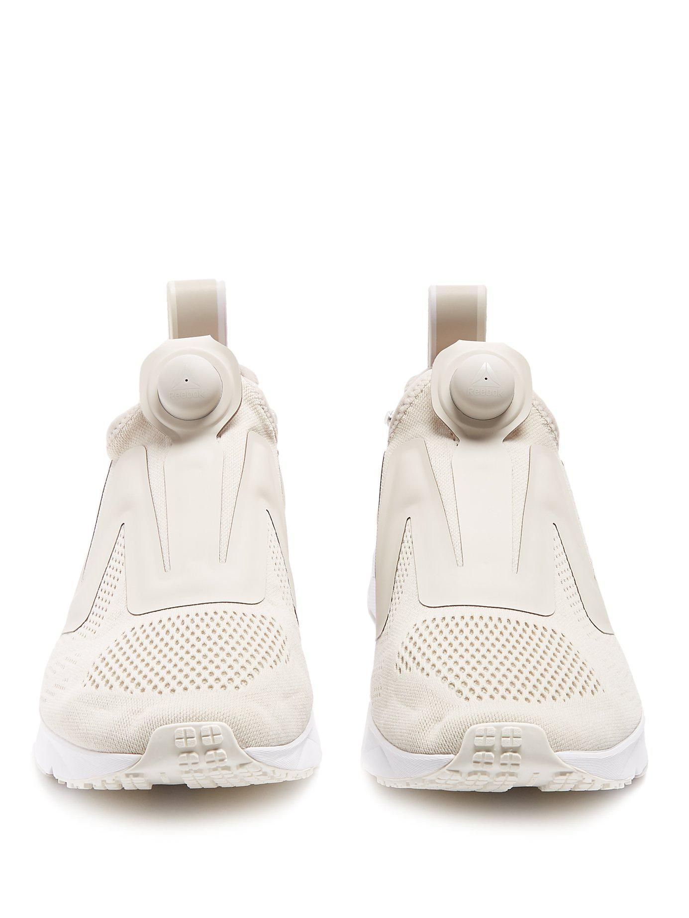18d788e98ab1 Lyst - Reebok Pump Supreme Low-top Mesh Trainers in White for Men