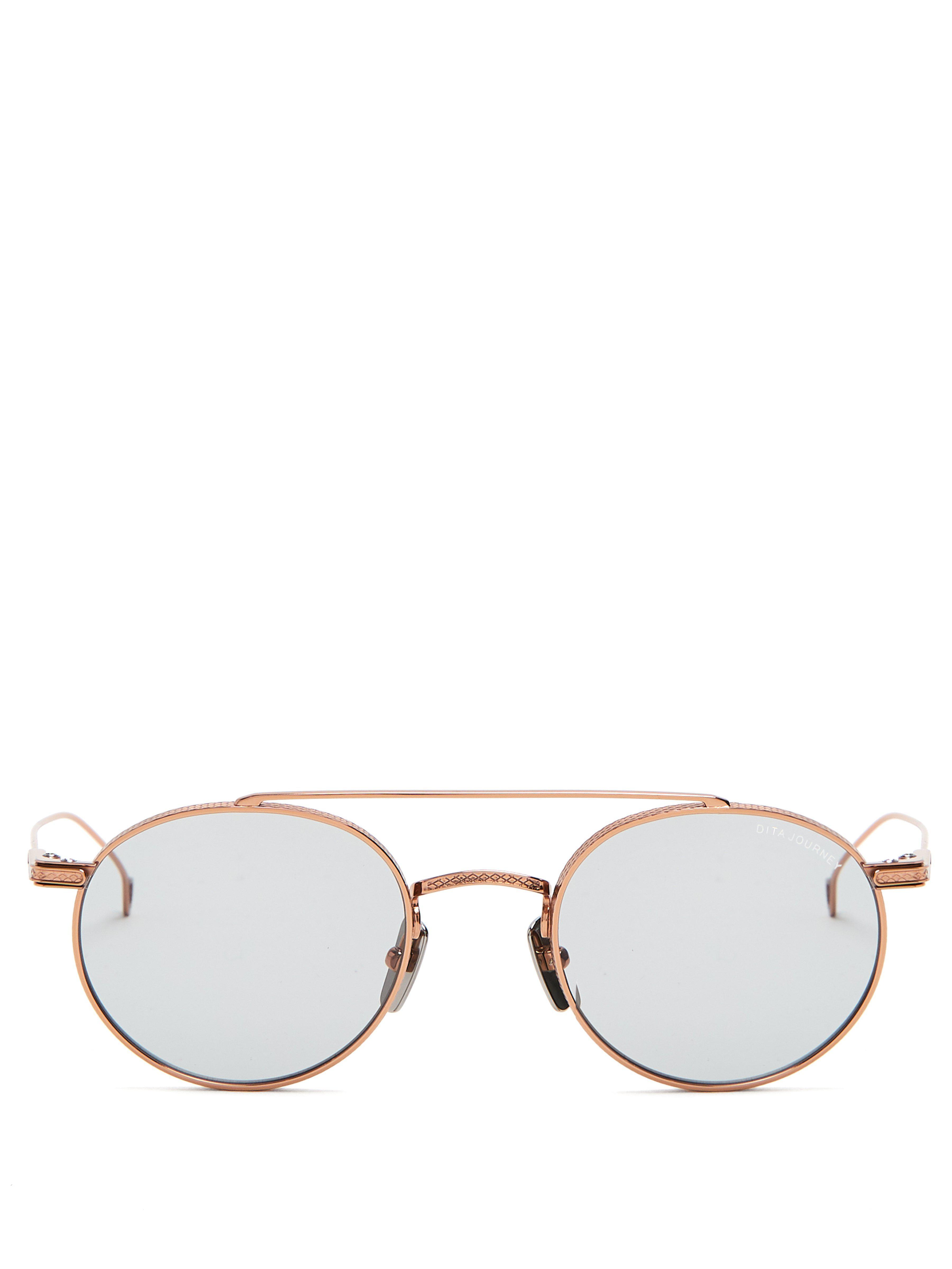 41701be5419 Dita Eyewear Journey Round Frame Sunglasses in Metallic for Men - Lyst