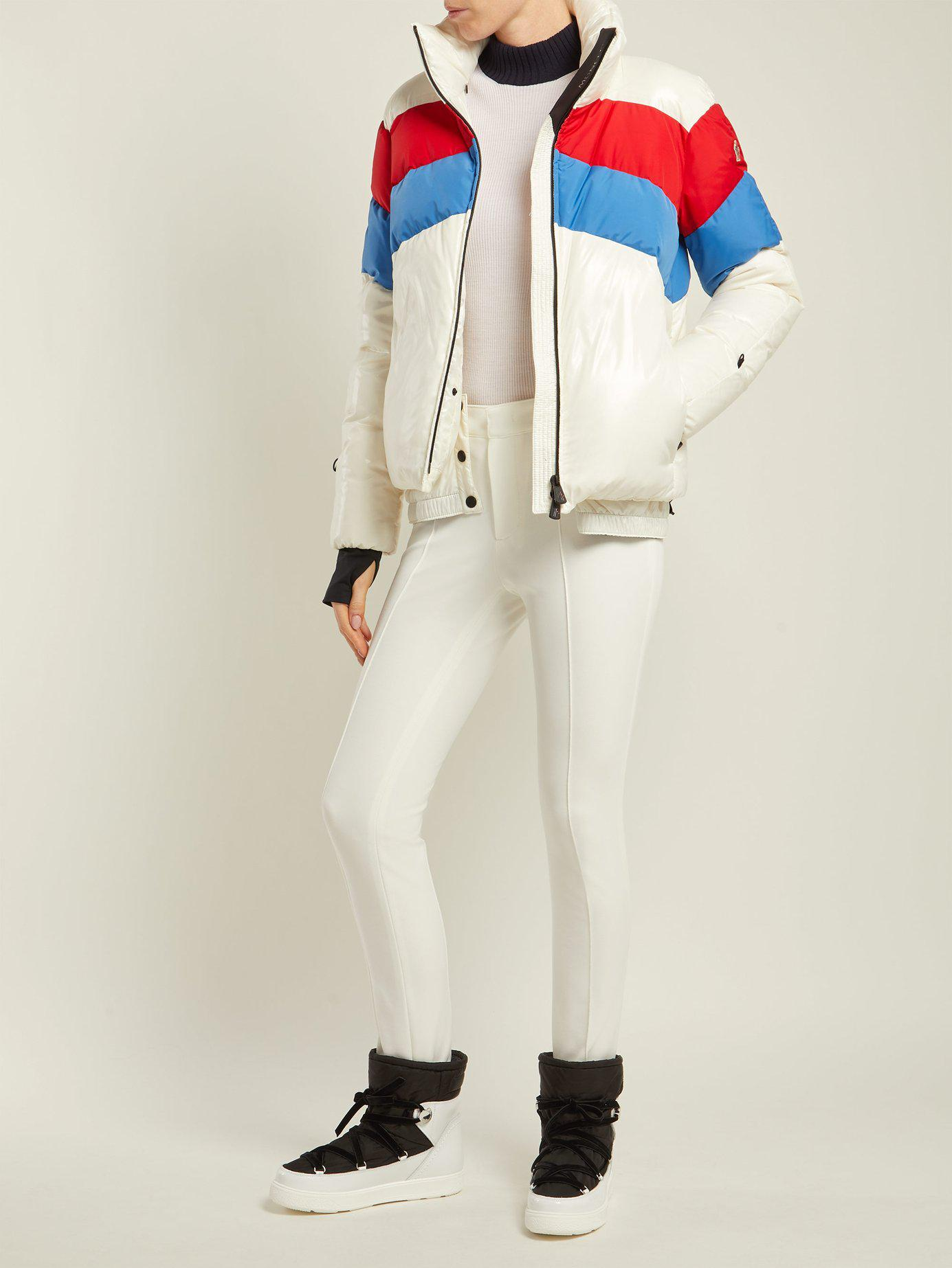 43a5cc512 Moncler Grenoble Lamar Down Filled Ski Jacket in White - Lyst